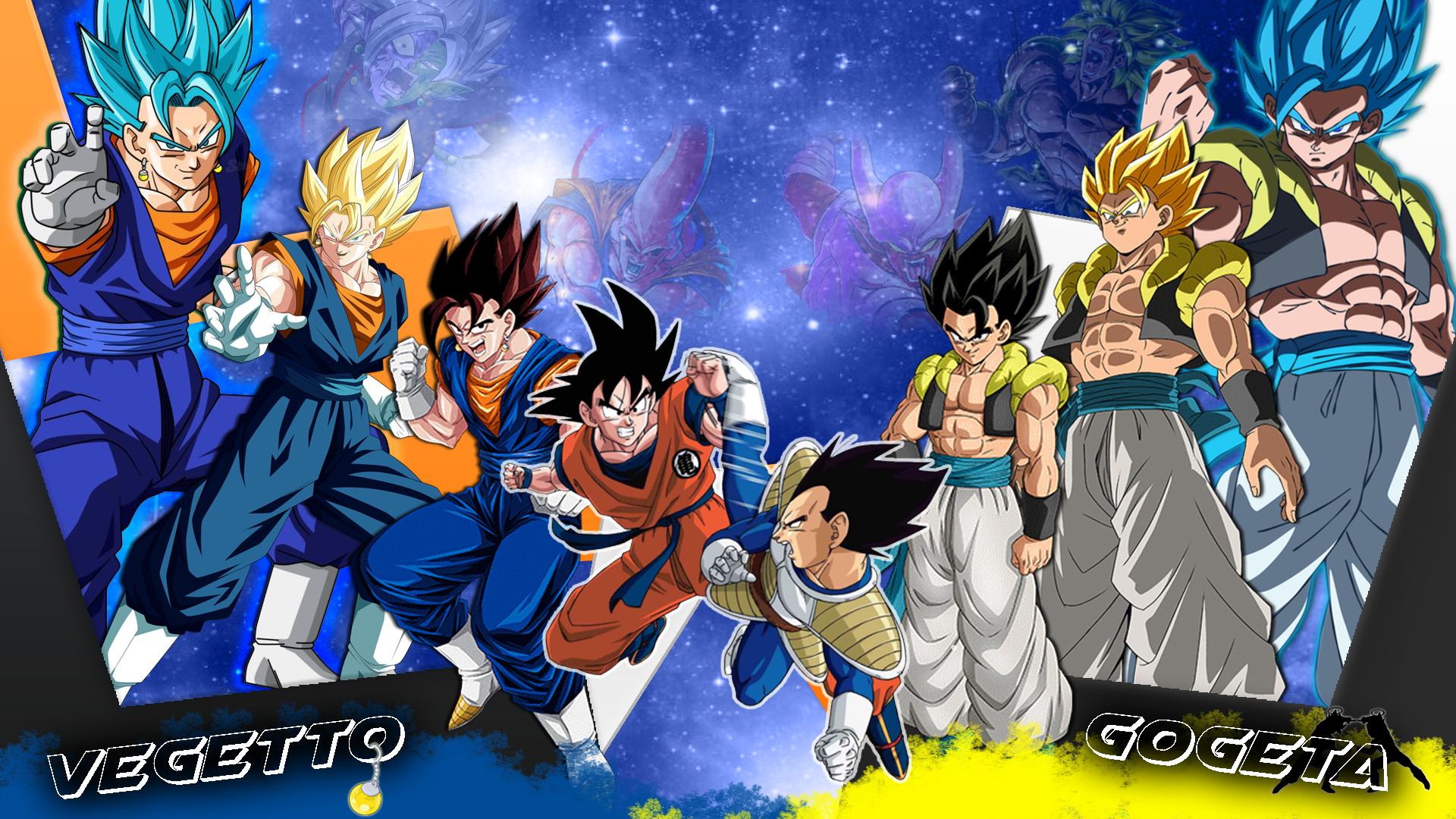 Son Goku, Vegeta, Gogeta, Vegetto