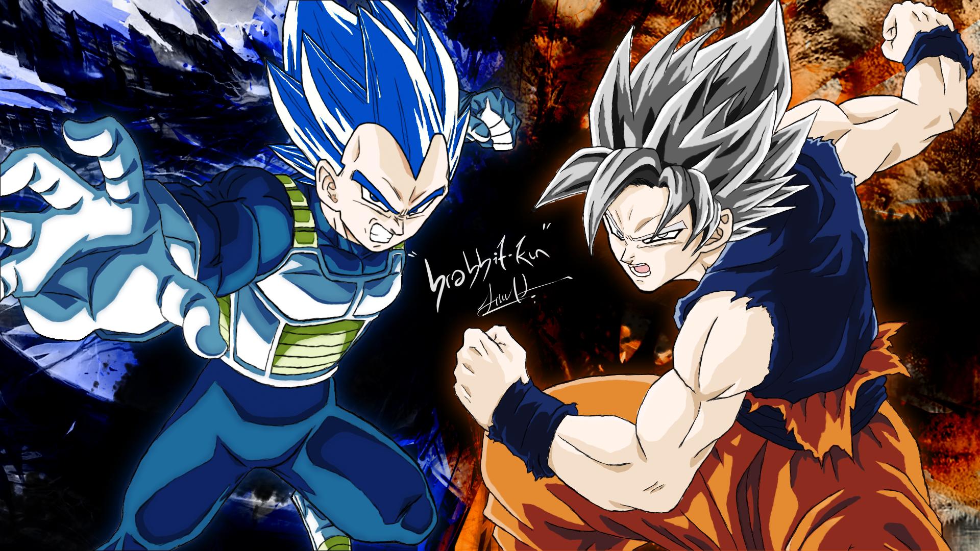 Wallpaper Son Goku Vegeta Ultra Instict Dragon Ball