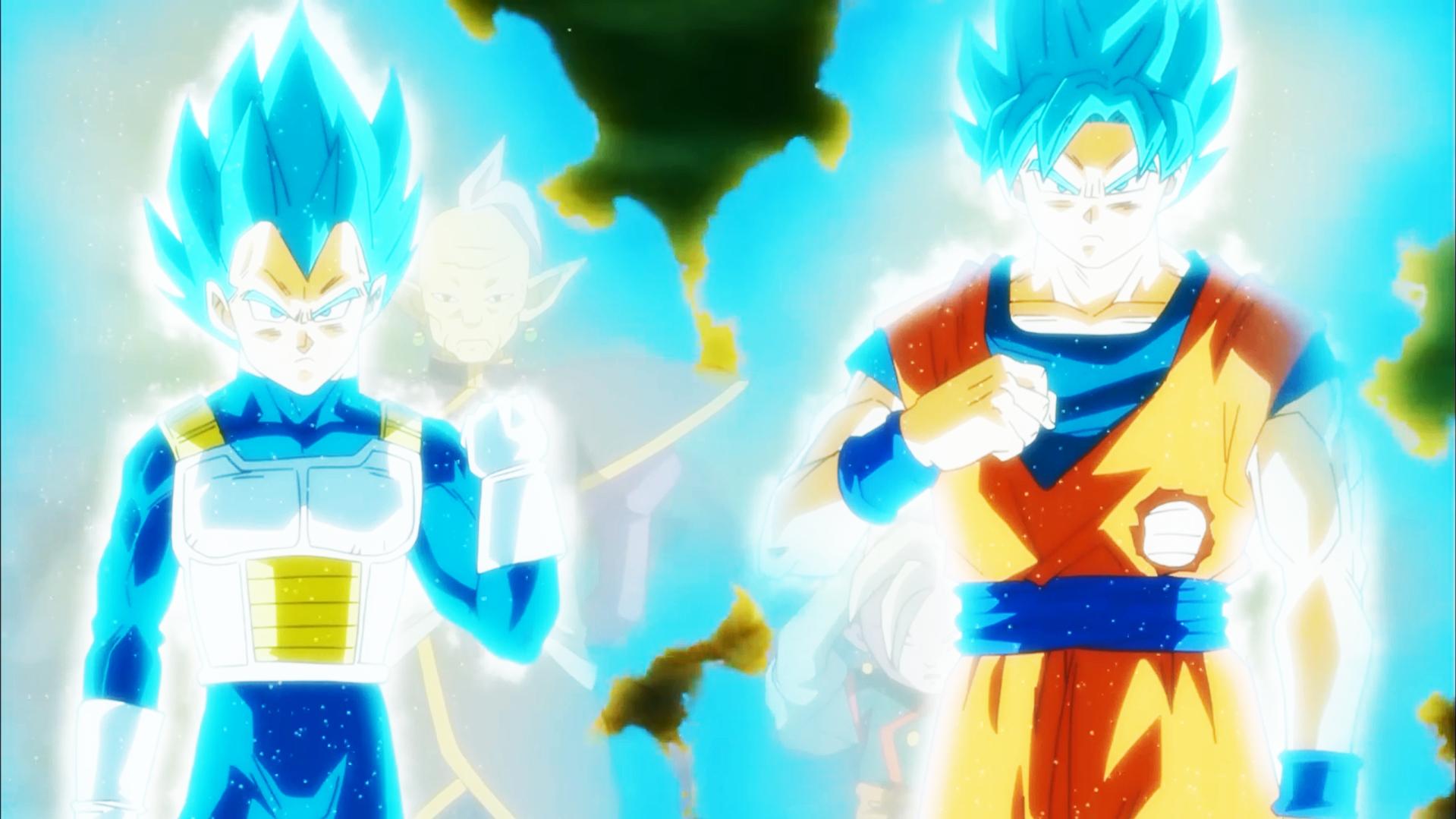 Wallpaper Son Goku Trunks Vegeta Dragon Ball Super Dragon