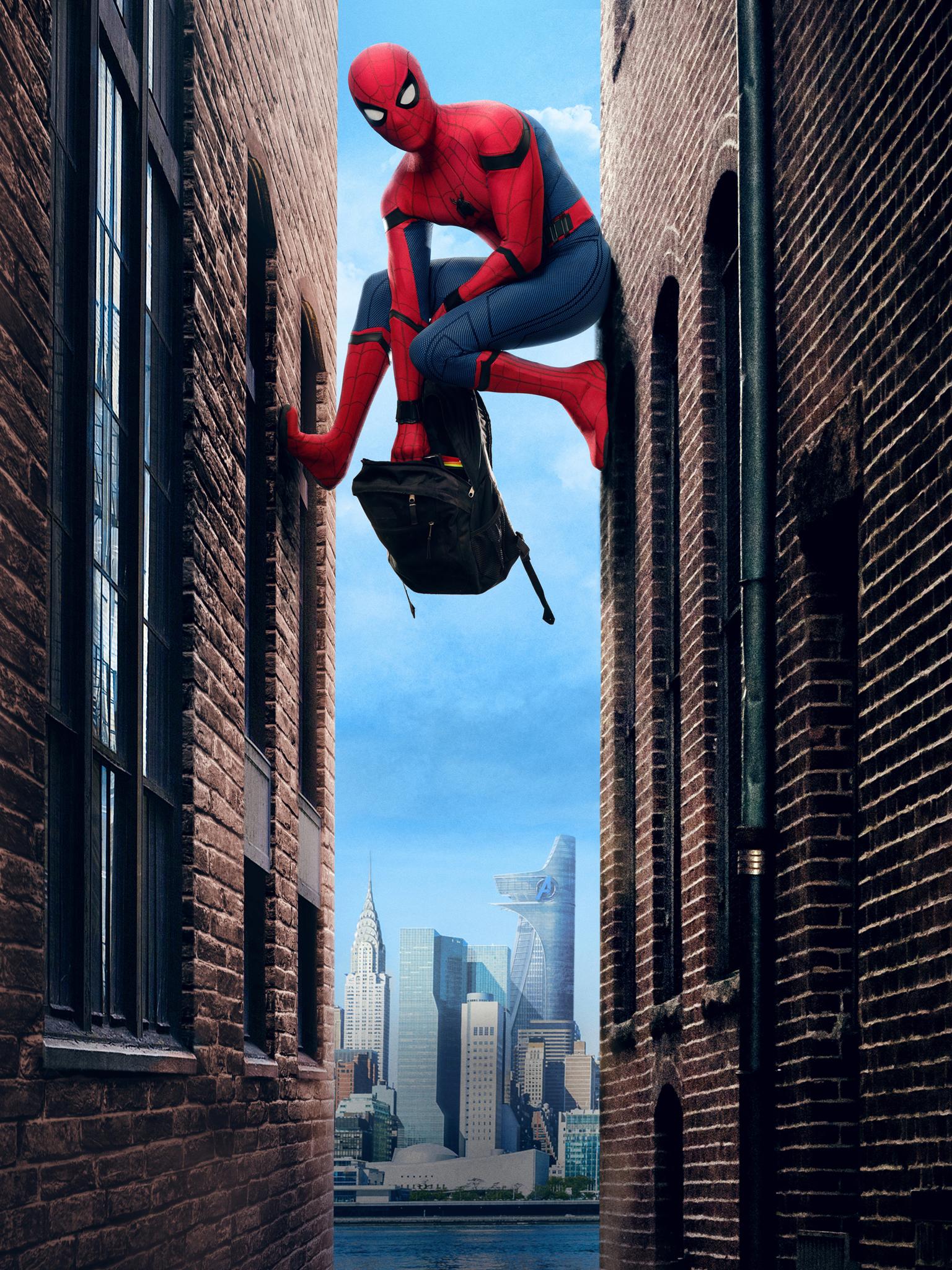 Wallpaper Spider Man Homecoming Movie Peter Parker