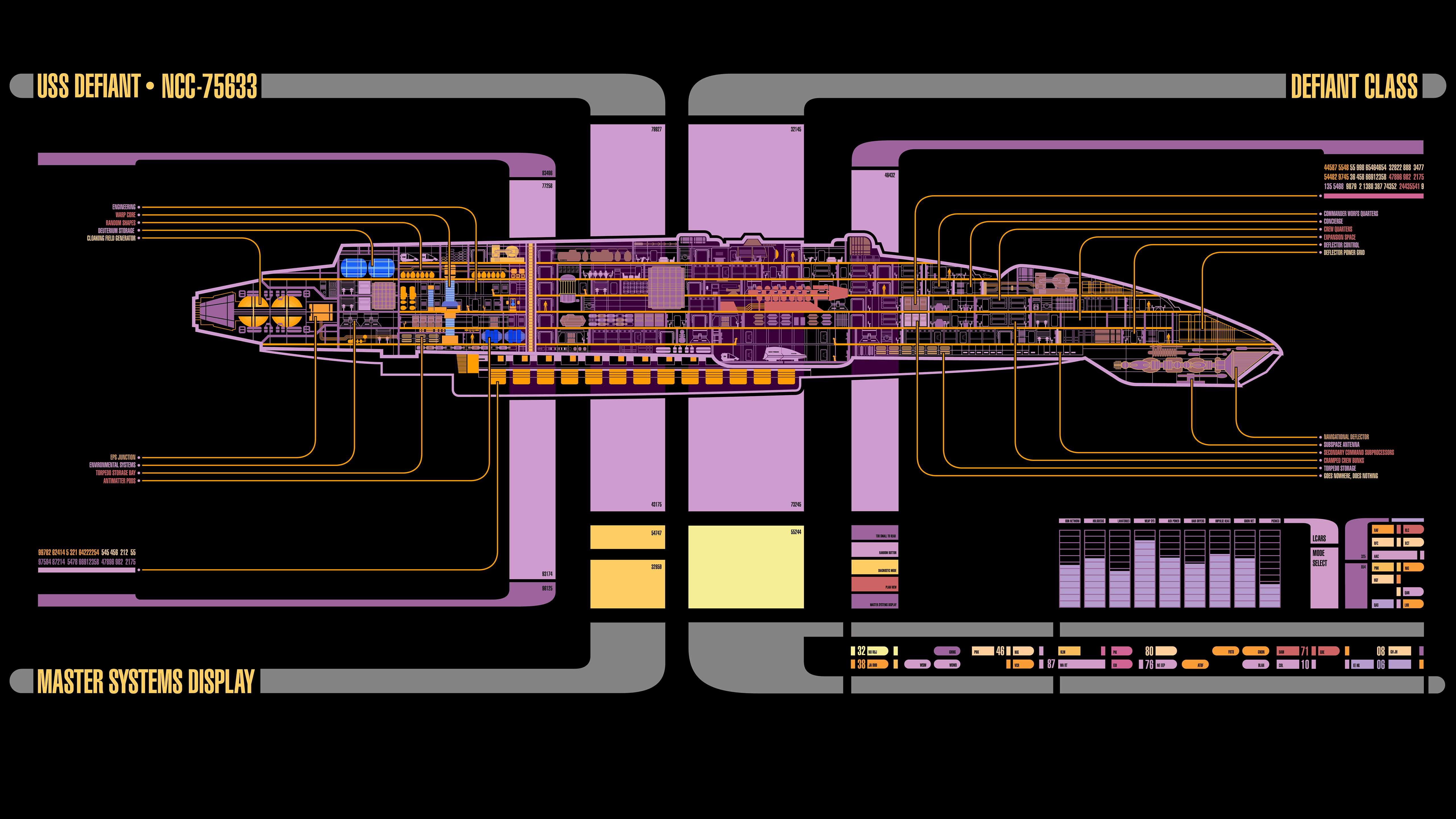 Star Trek USS Defiant LCARS
