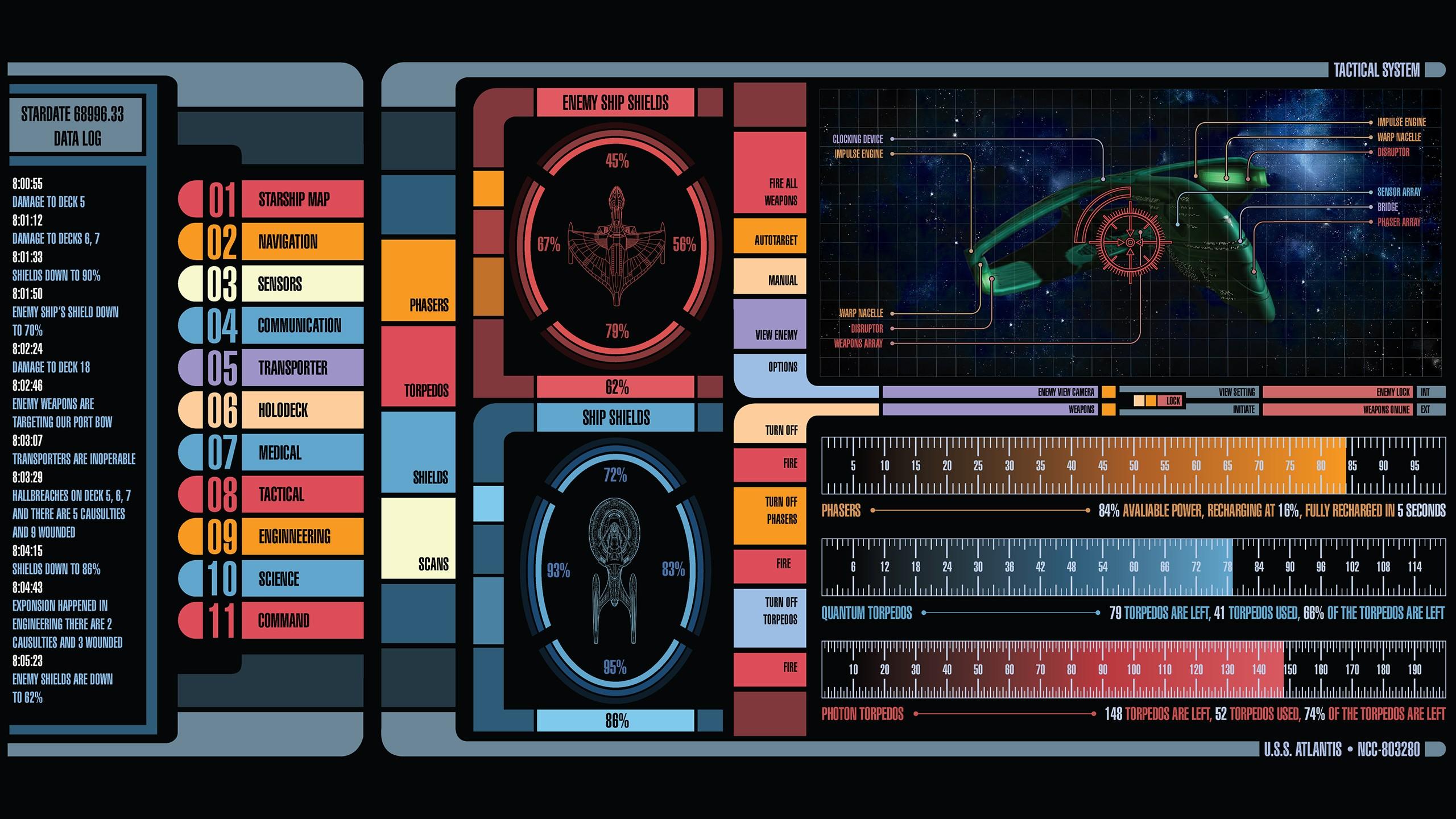 Wallpaper : Star Trek, electronics, LCARS, screenshot