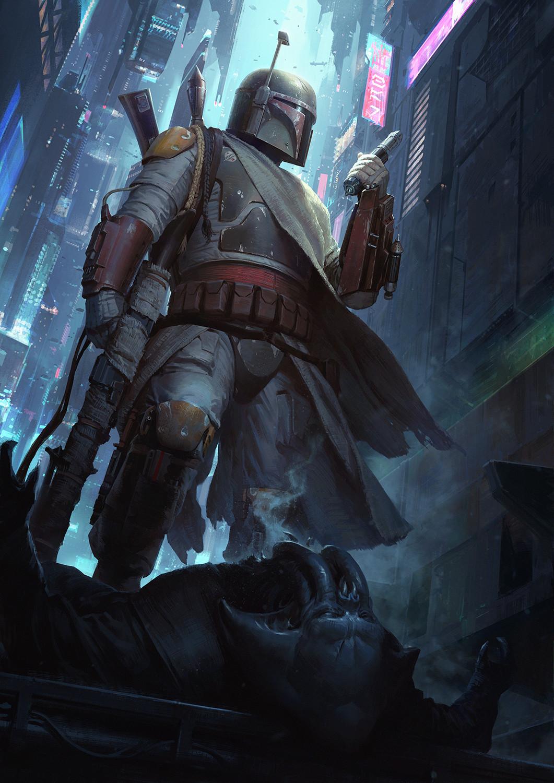 Wallpaper Star Wars Artstation Star Wars Villains Boba Fett