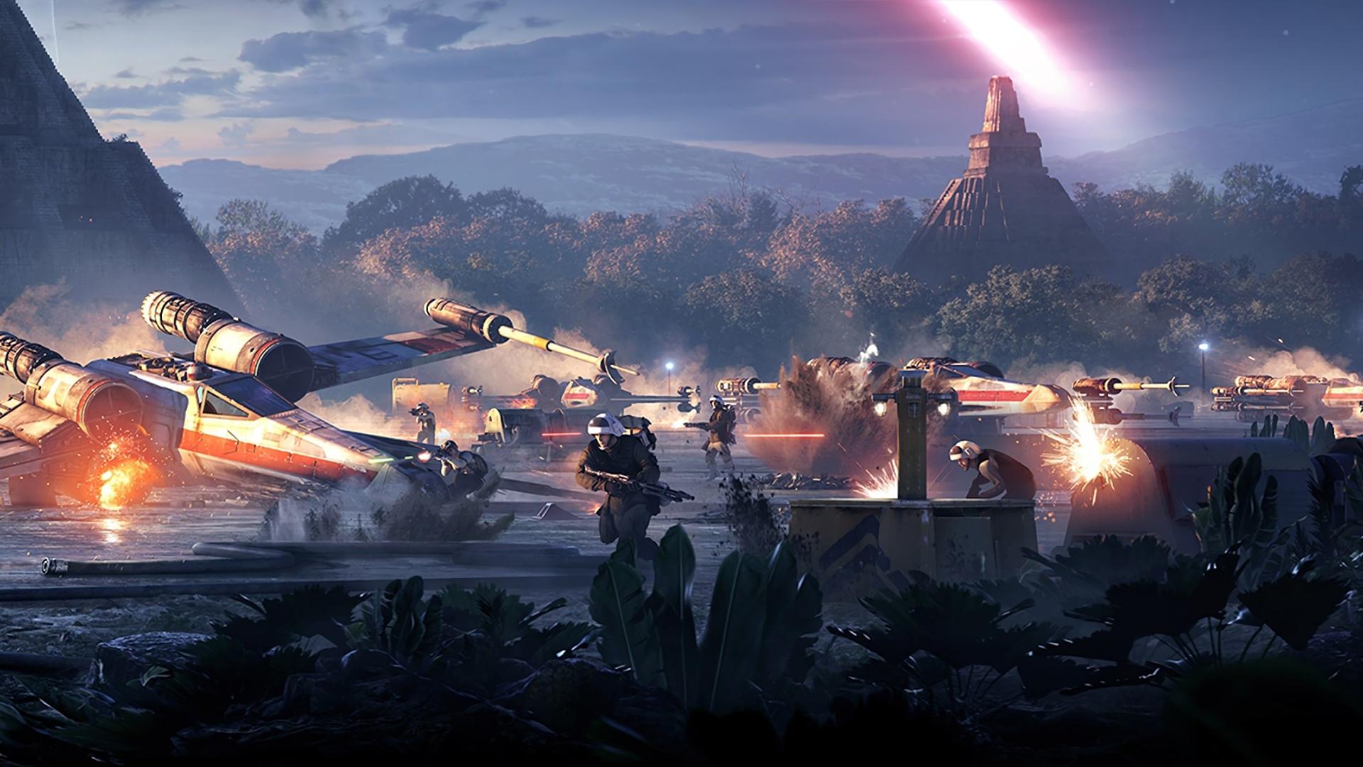 Wallpaper Star Wars Battlefront Ii Star Wars Video Games X Wing Rebel Alliance Battle Yavin 4 1920x1080 Dragon 1477485 Hd Wallpapers Wallhere