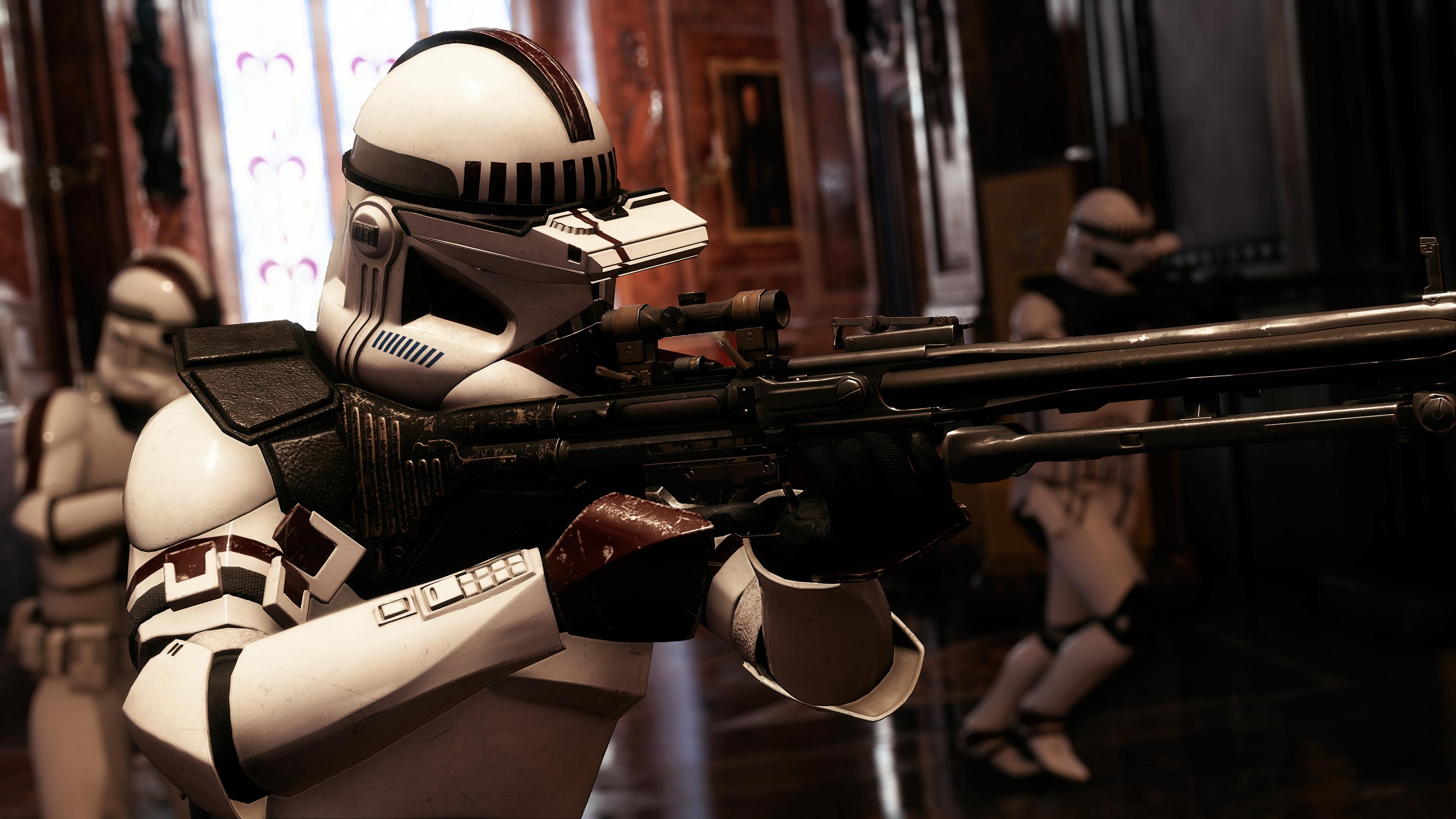 Wallpaper Star Wars Battlefront Ii Star Wars Video Games Clone Trooper Sniper Rifle 3840x2160 Poune 1477487 Hd Wallpapers Wallhere