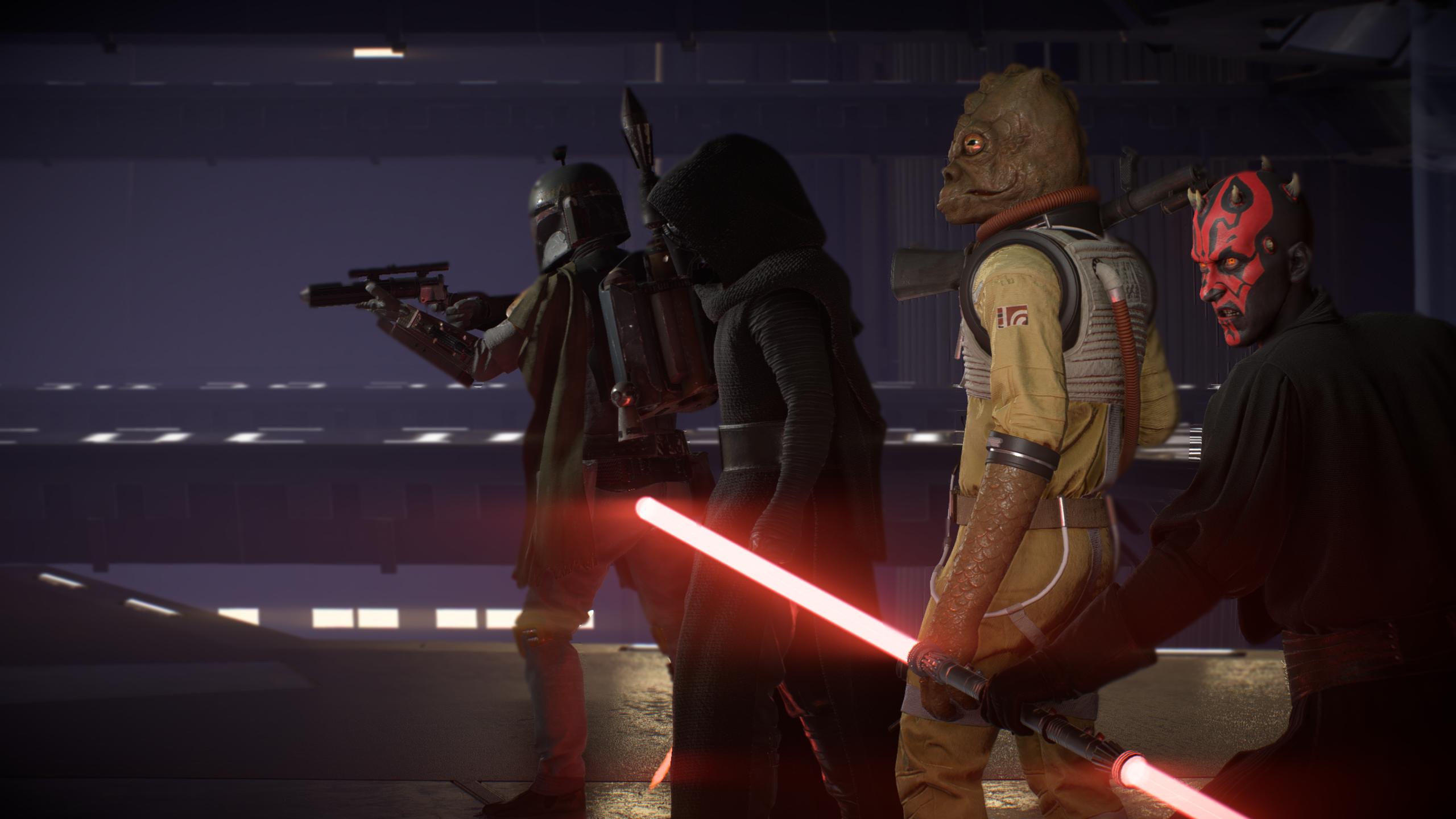 Wallpaper Star Wars Battlefront Kylo Ren Darth Maul Boba Fett