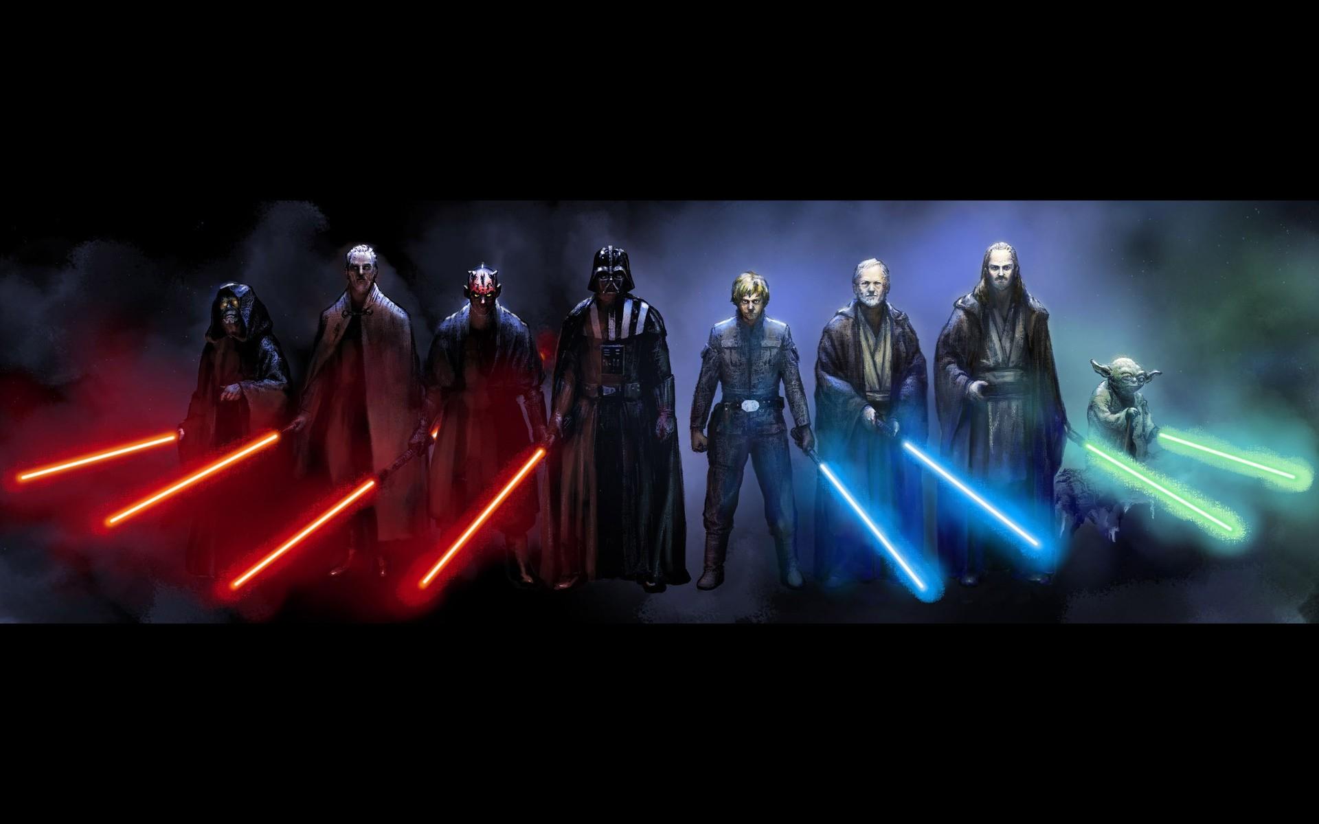 Star Wars Yoda Obi Wan Kenobi Luke Skywalker Darth Maul Qui Gon Jinn Sidious Count Dooku