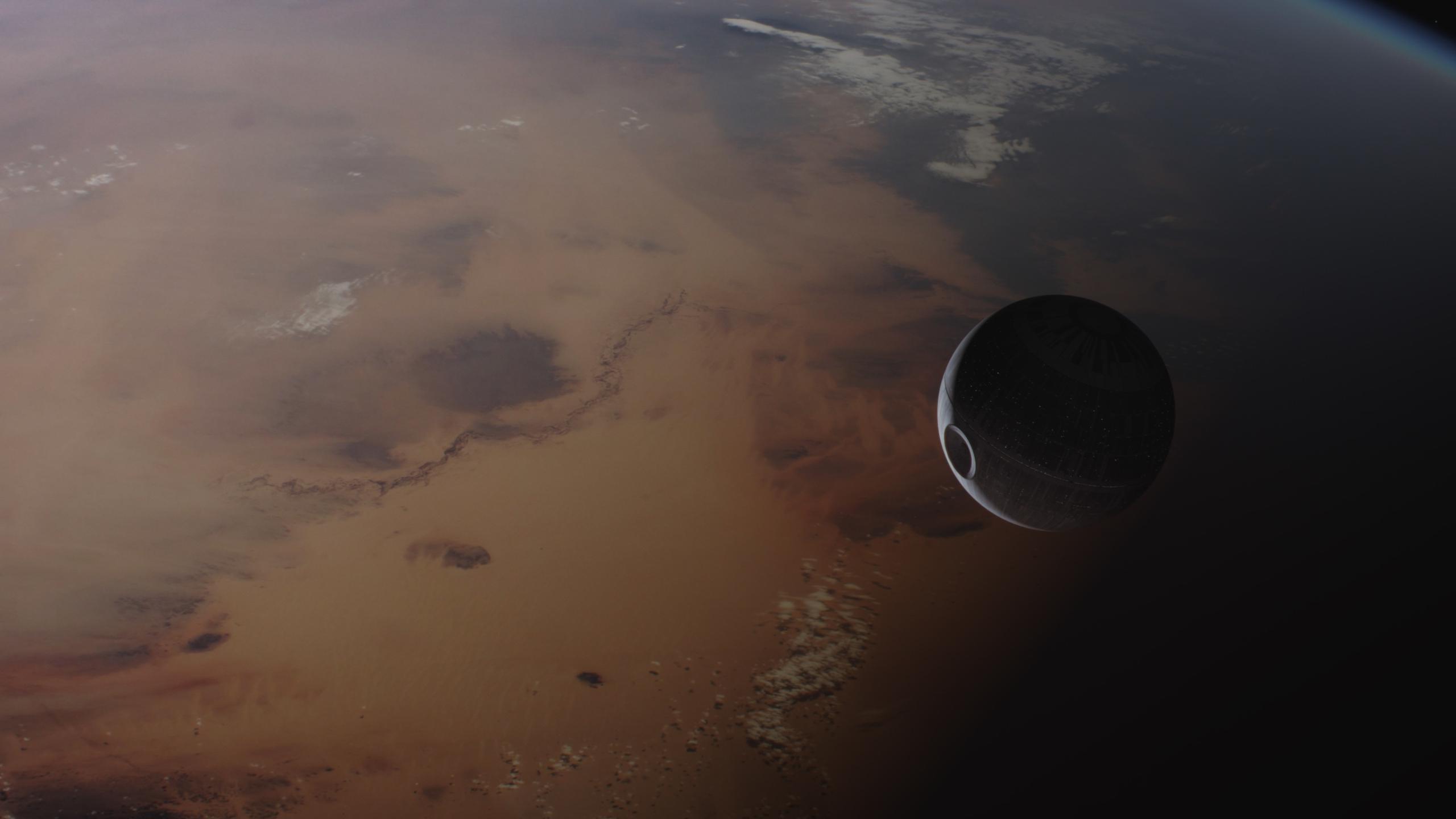 Wallpaper Star Wars Death Star Space Orbital View Rogue One A Star Wars Story 2560x1440 Flamespeedy 1892947 Hd Wallpapers Wallhere