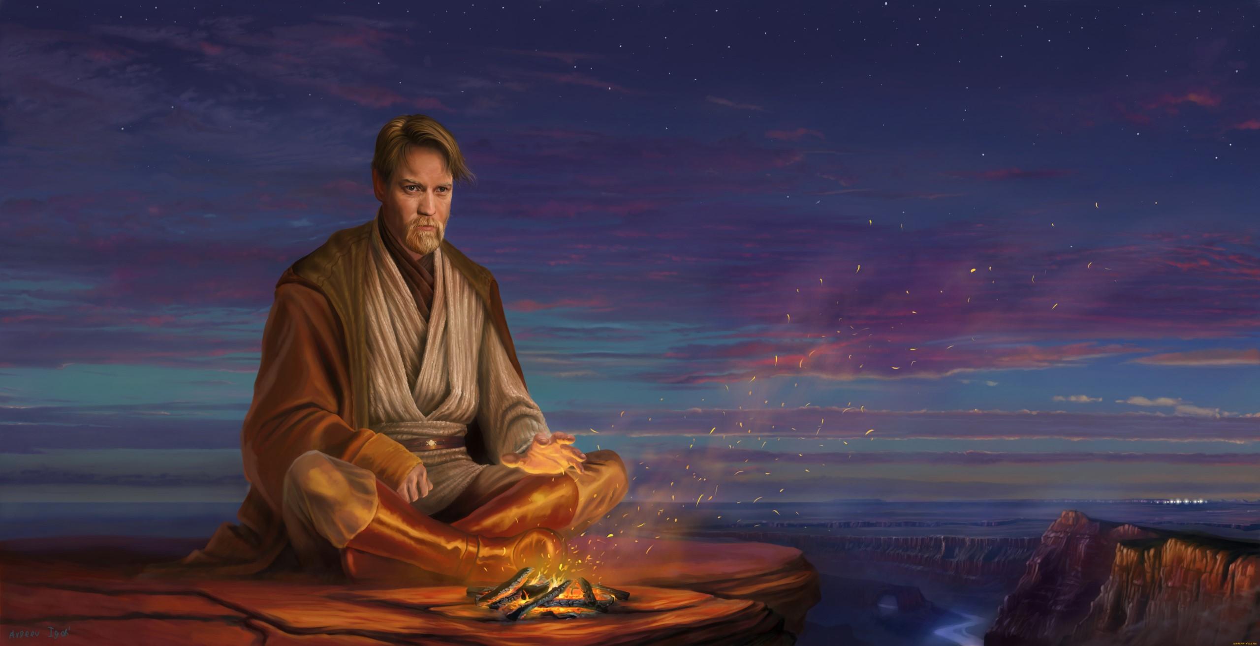 Wallpaper Star Wars Heroes Artwork Jedi Obi Wan Kenobi