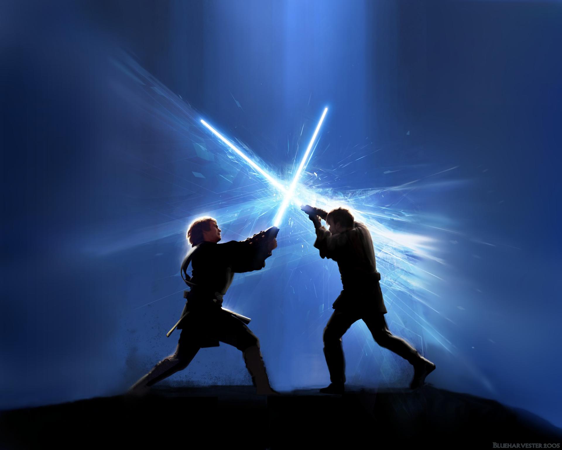 Wallpaper Star Wars Jedi Laser Swords Darth Vader Anakin
