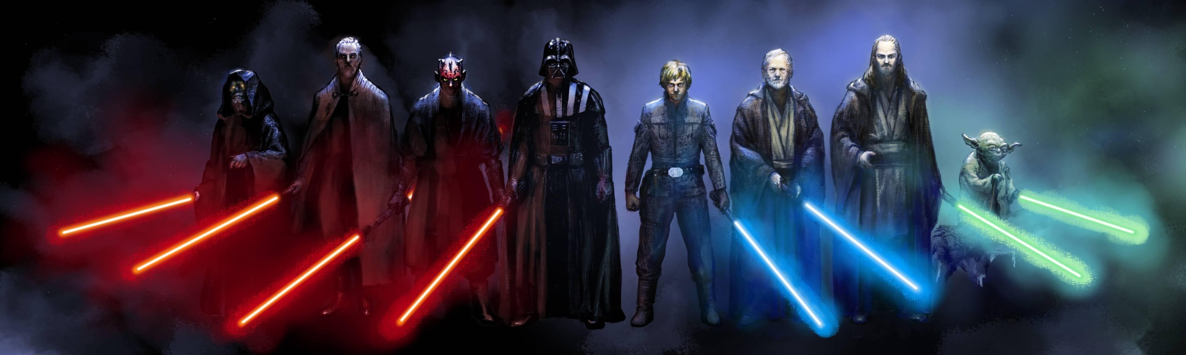 Wallpaper Star Wars Jedi Sith Laser Swords Mask Emperor