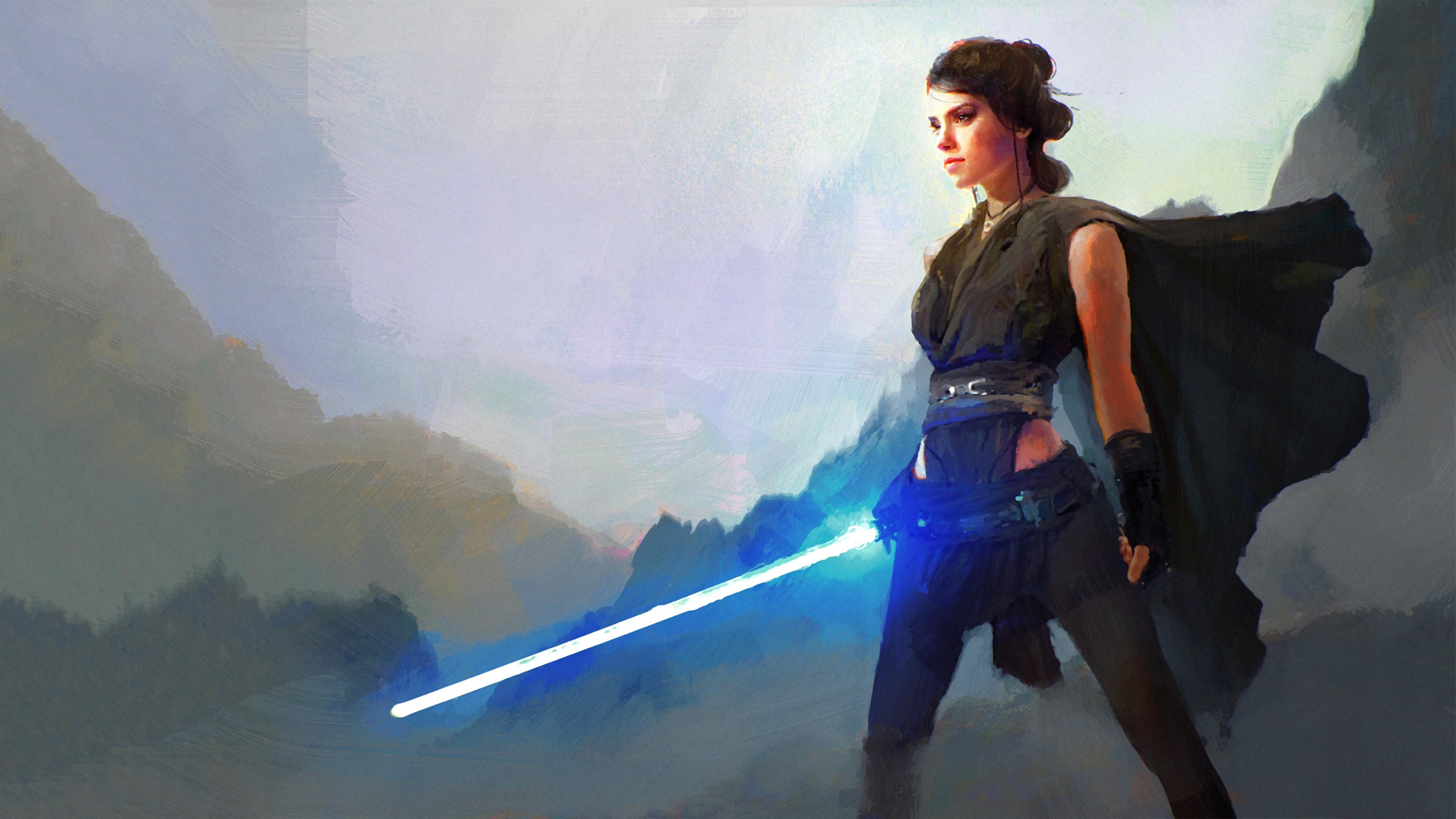 Wallpaper Star Wars Rey From Star Wars Star Wars The