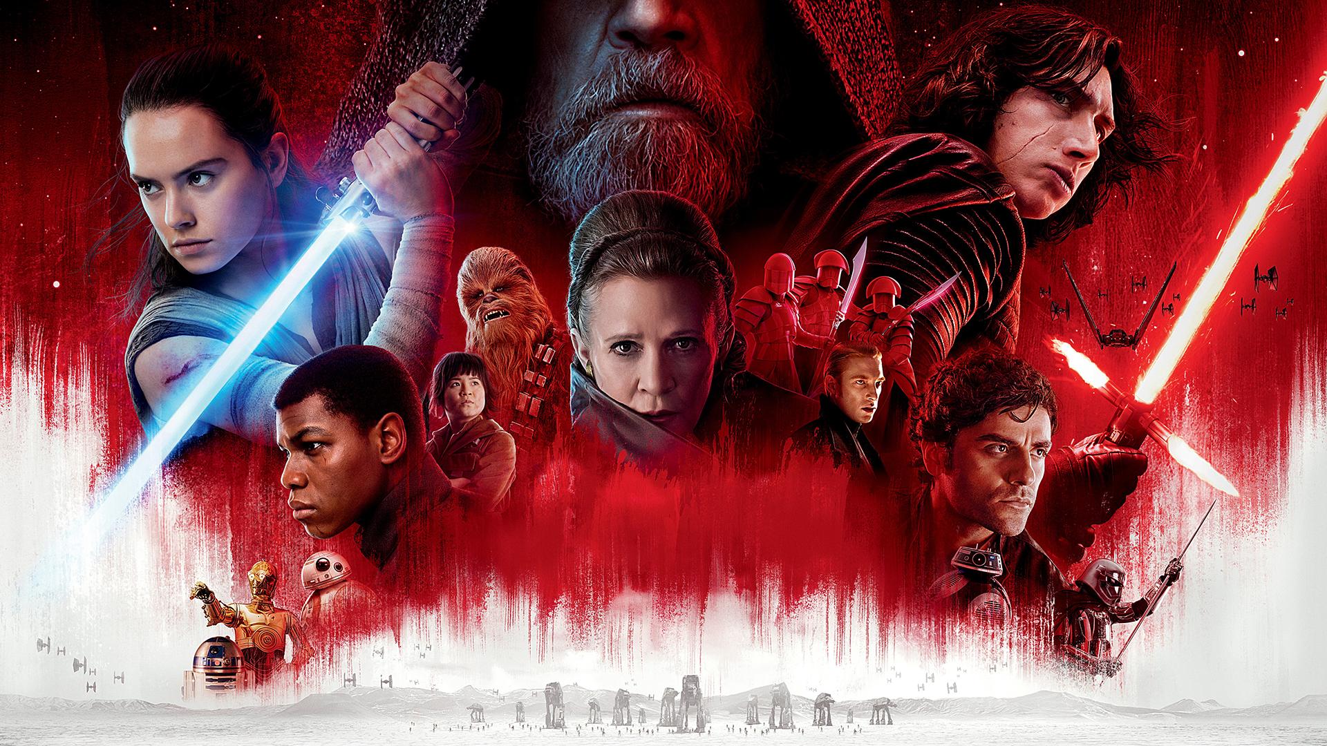 Wallpaper Star Wars The Last Jedi Kylo Ren Chewbacca Movie Poster 1920x1080 Grim1111 1180121 Hd Wallpapers Wallhere