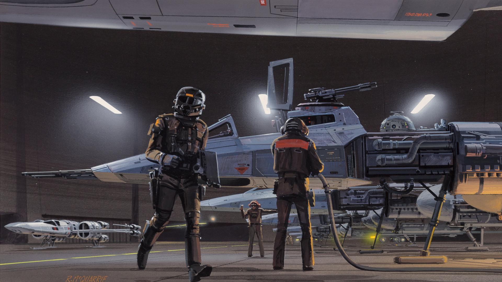 Wallpaper Star Wars Y Wing X Wing Hangar Rebel Alliance Artwork 1920x1080 Kmaco 1892951 Hd Wallpapers Wallhere