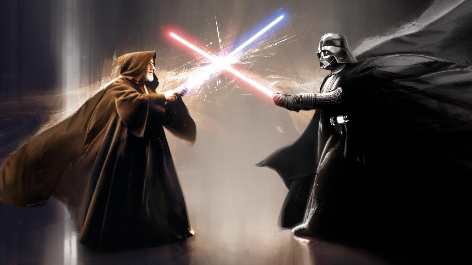 Wallpaper Star Wars Artwork Lightsaber Darth Vader Obi Wan Kenobi Darkness 1920x1080 Px Computer Wallpaper Special Effects 1920x1080 Wallup 786969 Hd Wallpapers Wallhere