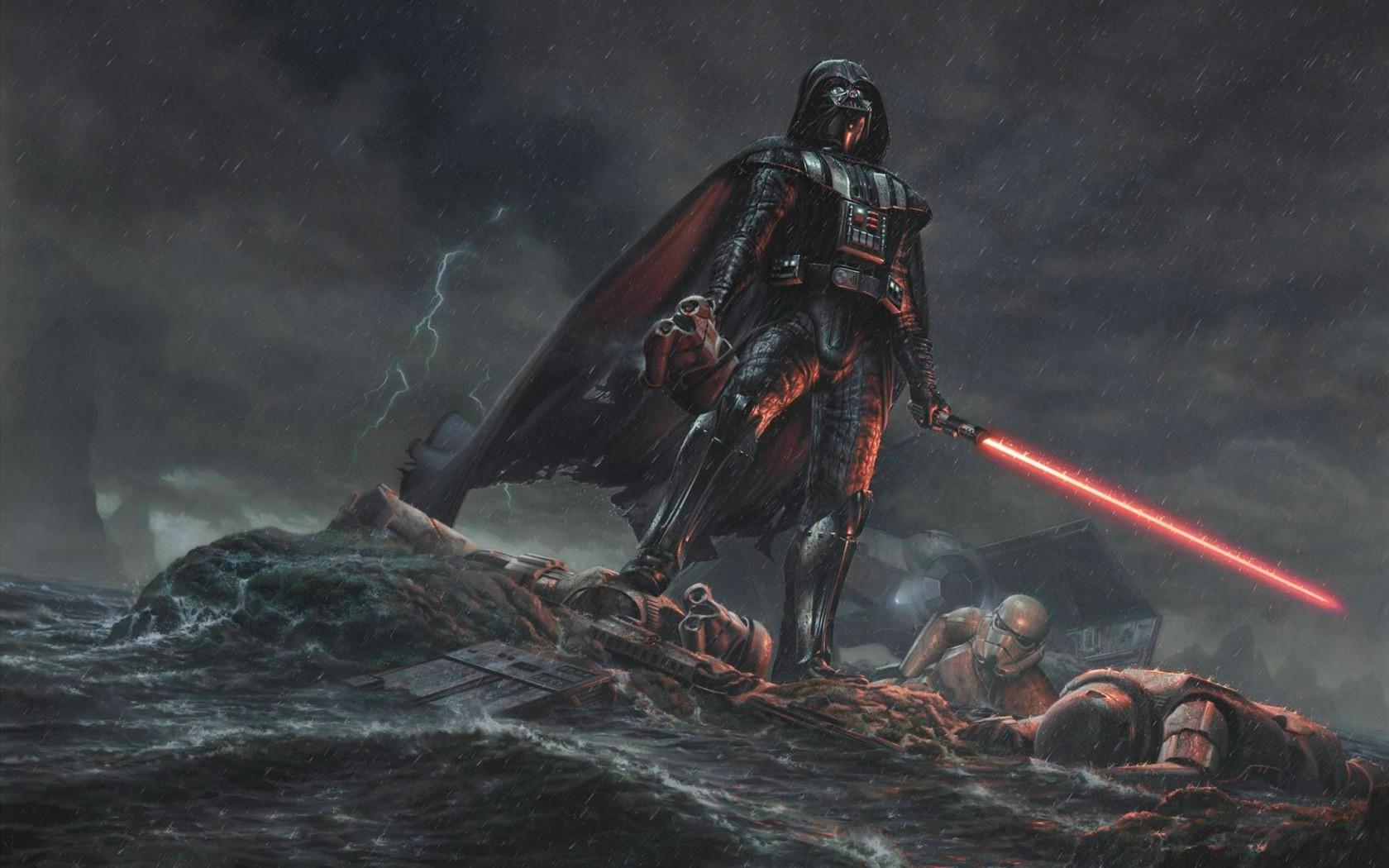 Star Wars Artwork Science Fiction Darth Vader Darkness Screenshot 1680x1050 Px Computer Wallpaper Geological Phenomenon Adventurer