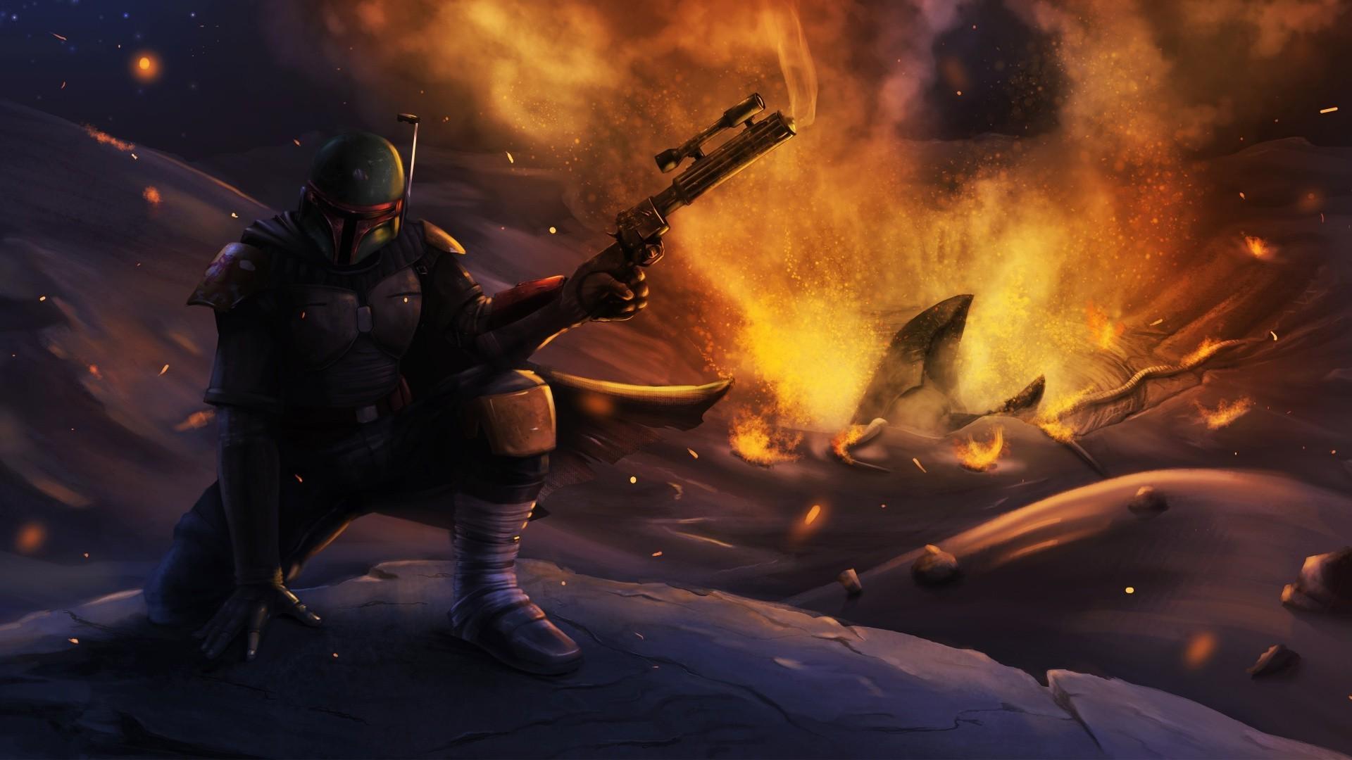 Wallpaper Star Wars Artwork Science Fiction Concept Art Boba Fett Darkness Screenshot 1920x1080 Px Computer Wallpaper Pc Game 1920x1080 Wallhaven 628581 Hd Wallpapers Wallhere