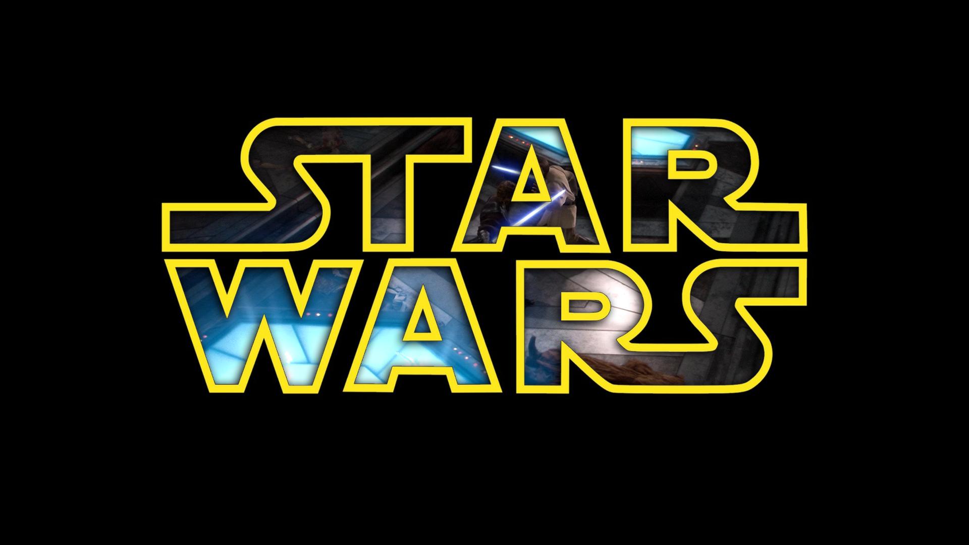 Wallpaper Star Wars Black Background Typography Text Logo