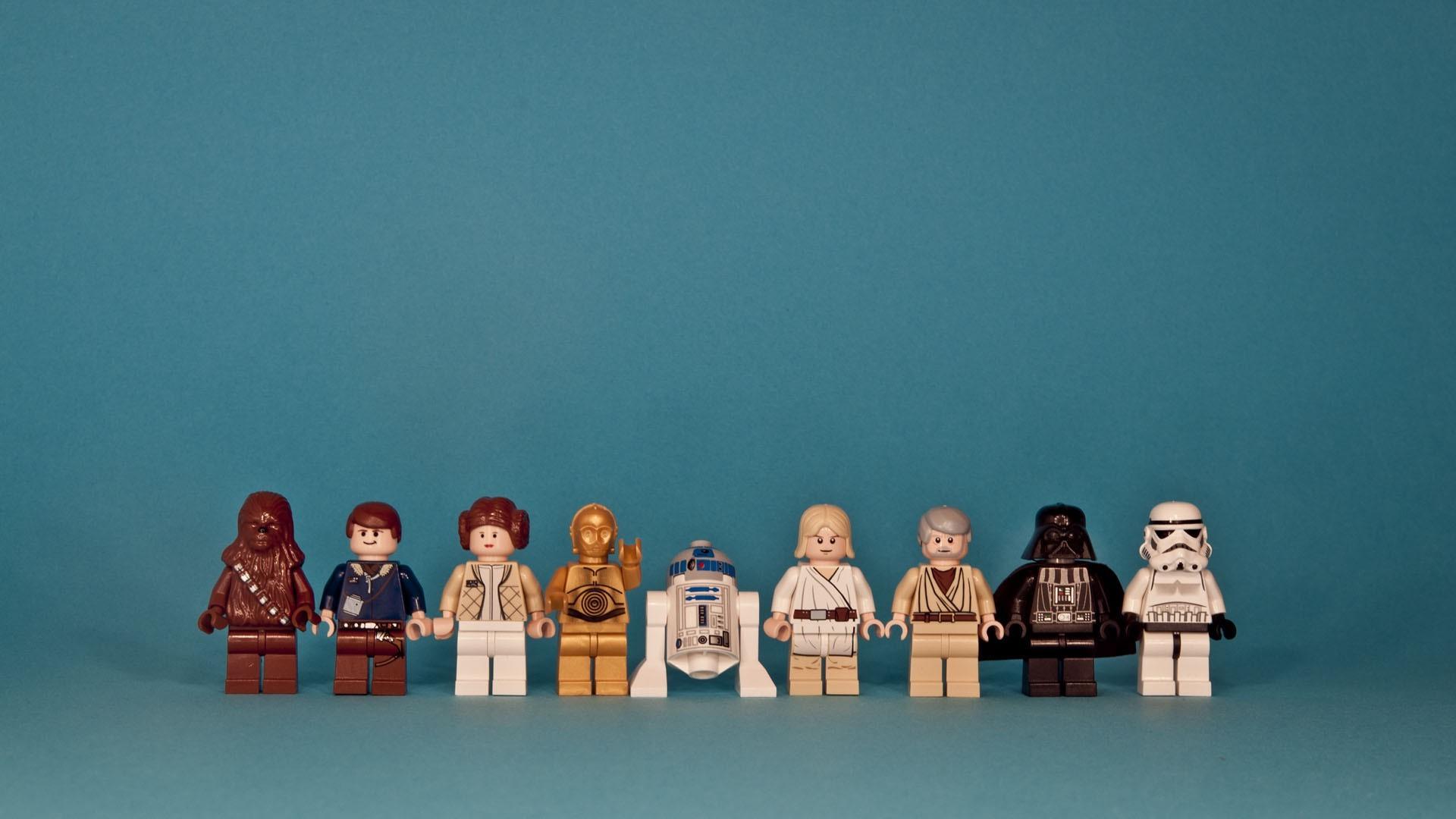 Star Wars Blue LEGO Fun 1920x1080 Px