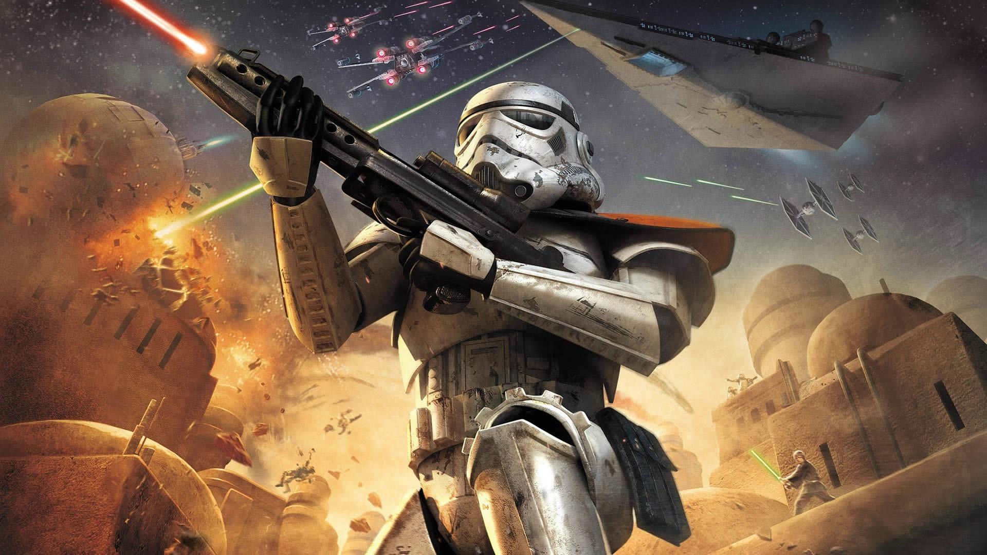 wallpaper star wars digital art gun video games
