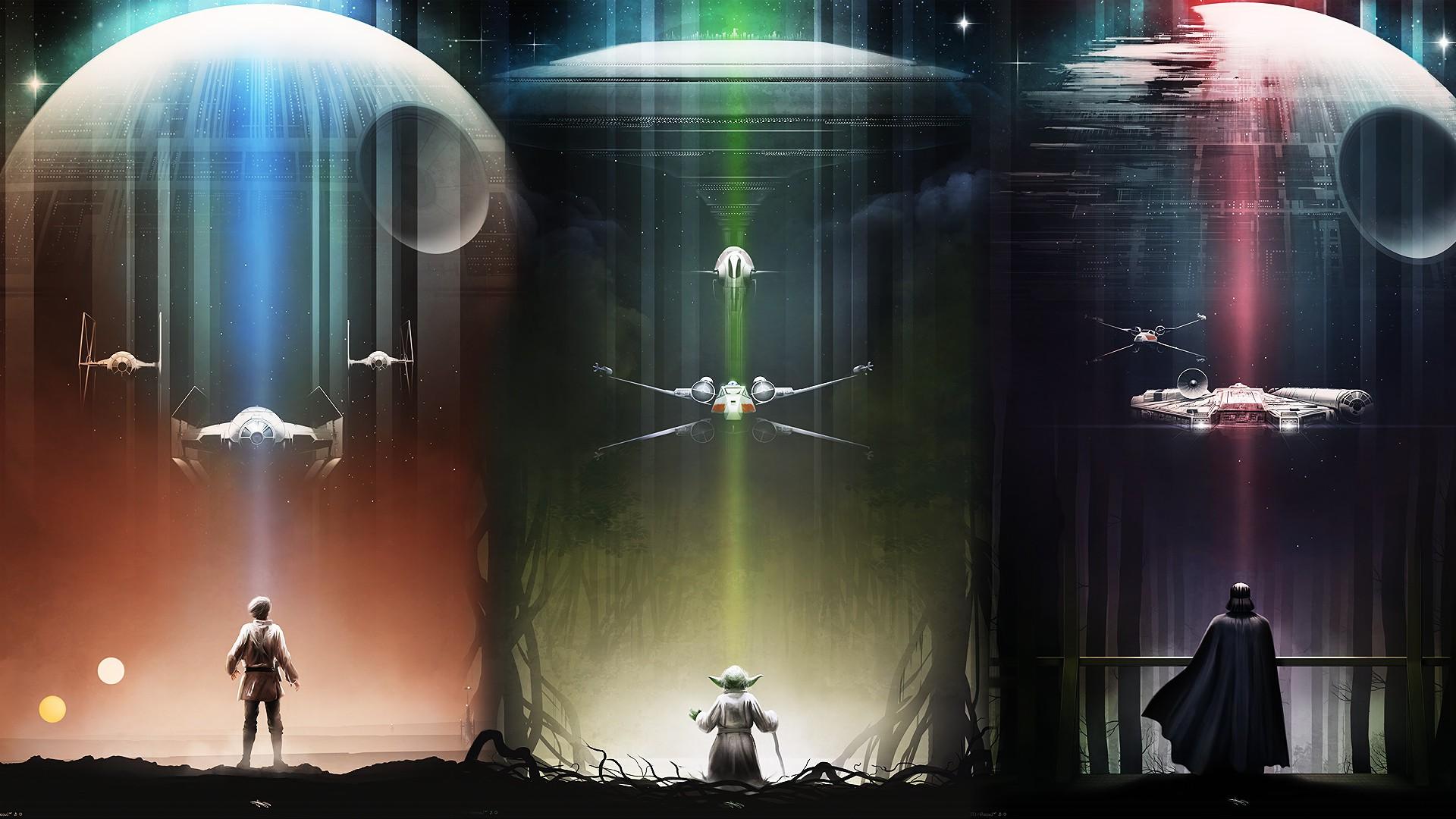 Wallpaper Star Wars Fantasy Art Tie Fighter Darth Vader