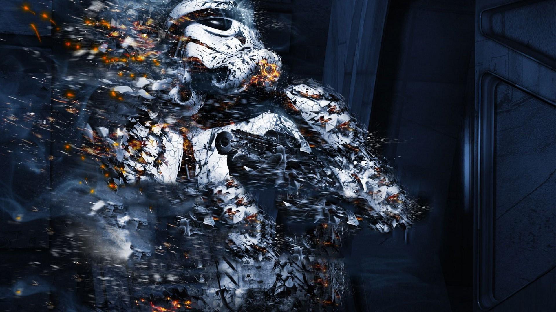 Star Wars gun water winter weapon stormtrooper ART darkness 1920x1080 px computer wallpaper