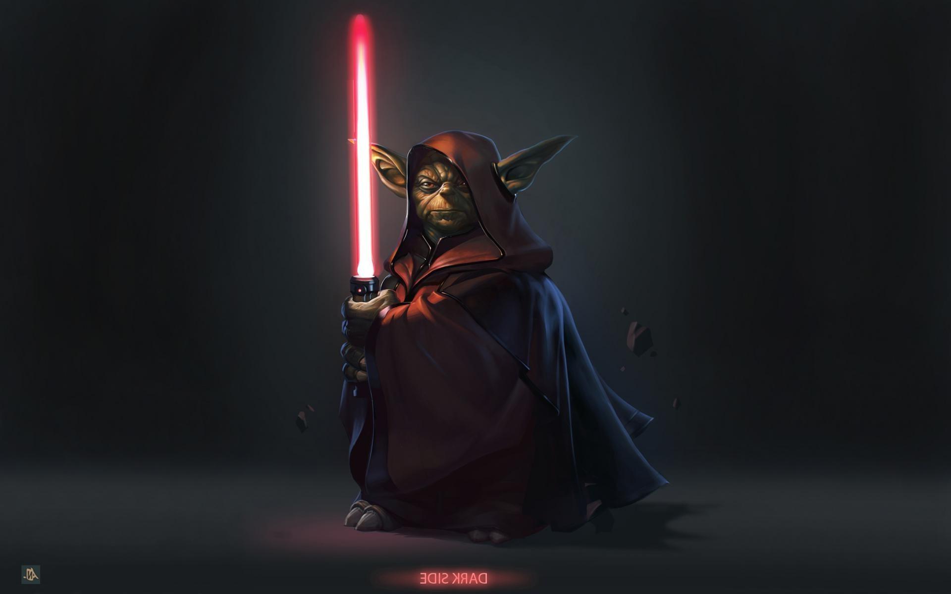 Wallpaper Star Wars Lightsaber Yoda Darkness 1920x1200 Px Computer Wallpaper 1920x1200 Goodfon 786869 Hd Wallpapers Wallhere