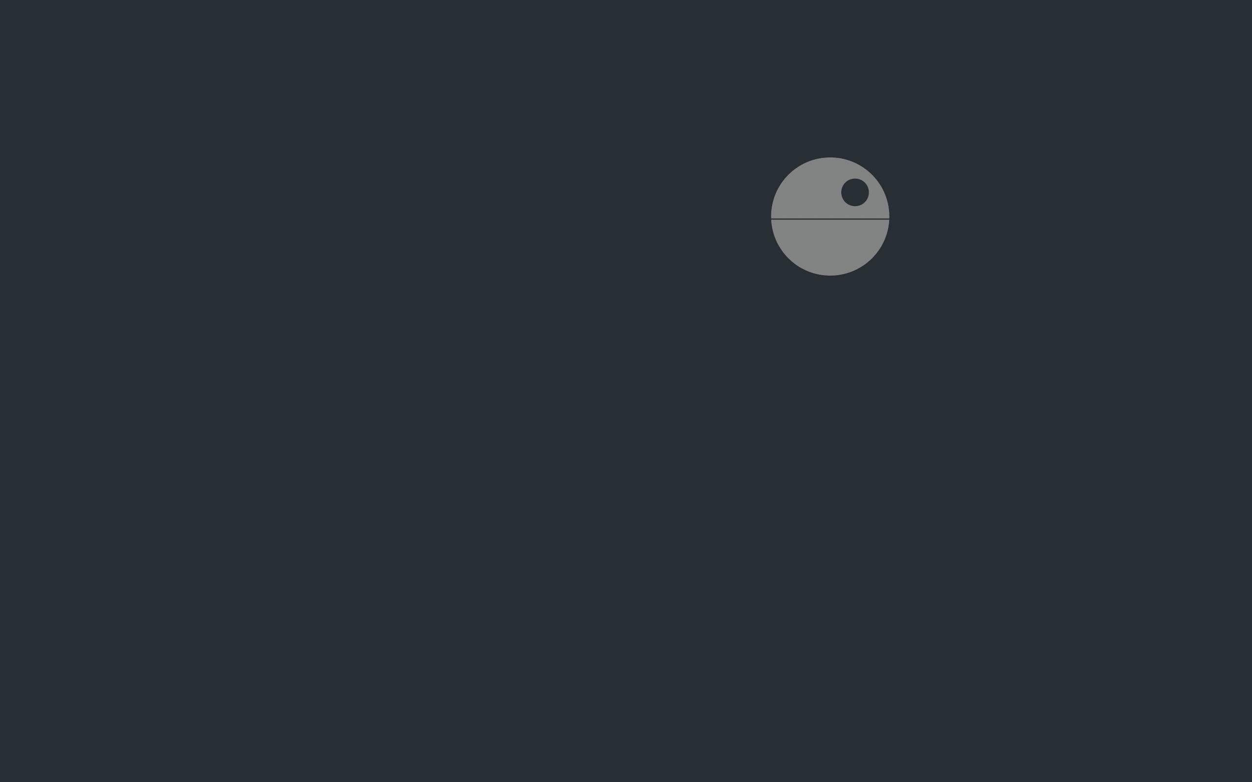 Papel De Parede Guerra Das Estrelas Minimalismo Logotipo Lua