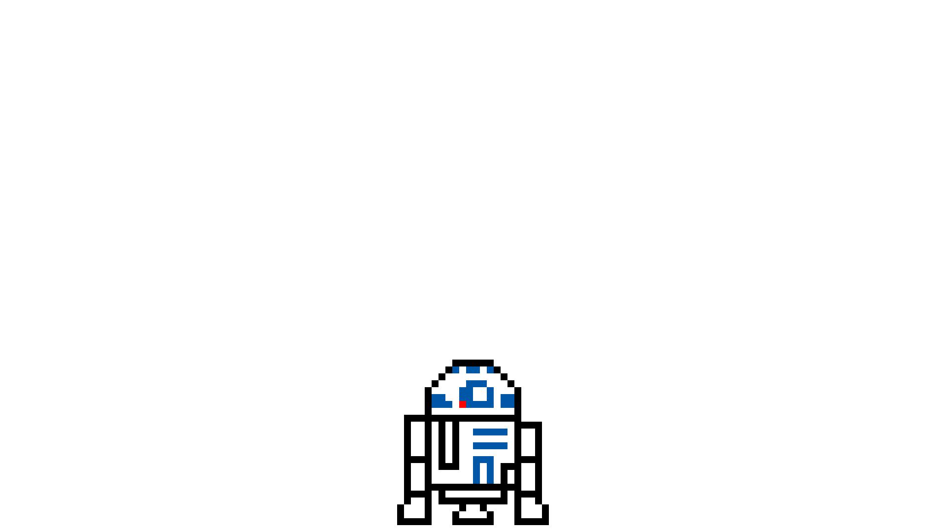 デスクトップ壁紙 スターウォーズ ピクセルアート ロゴ R2 D2