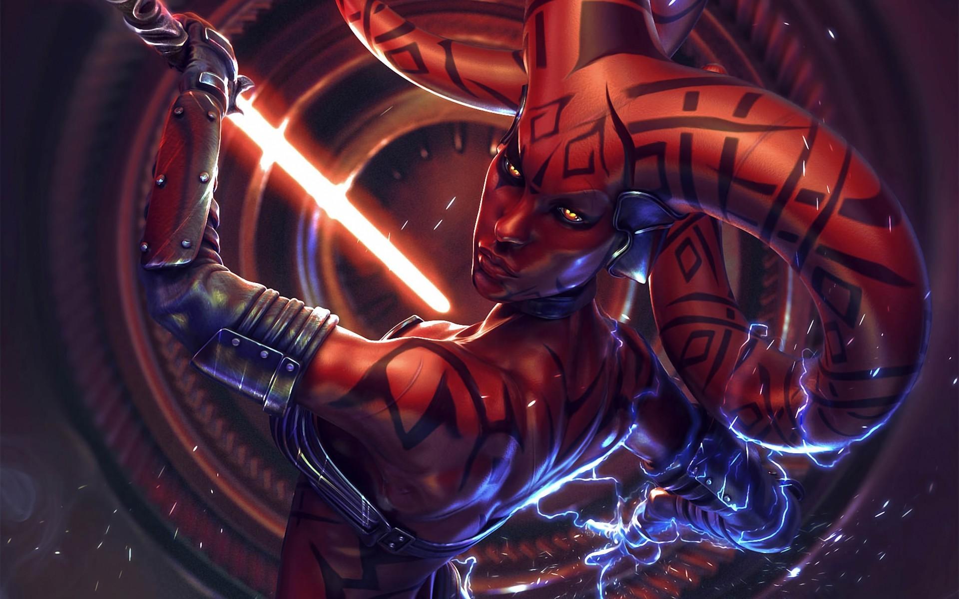 Wallpaper Star Wars Space Demon Darth Talon Darkness Graphics