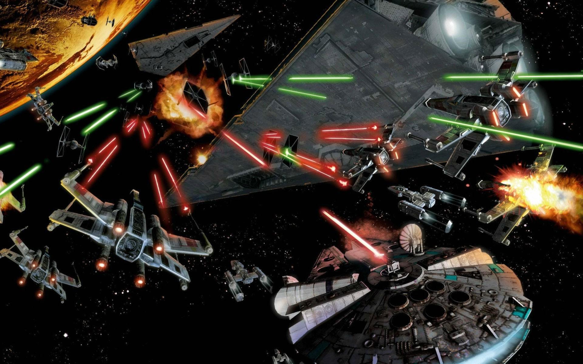 Wallpaper Star Wars Space Machine Millennium Falcon Darkness
