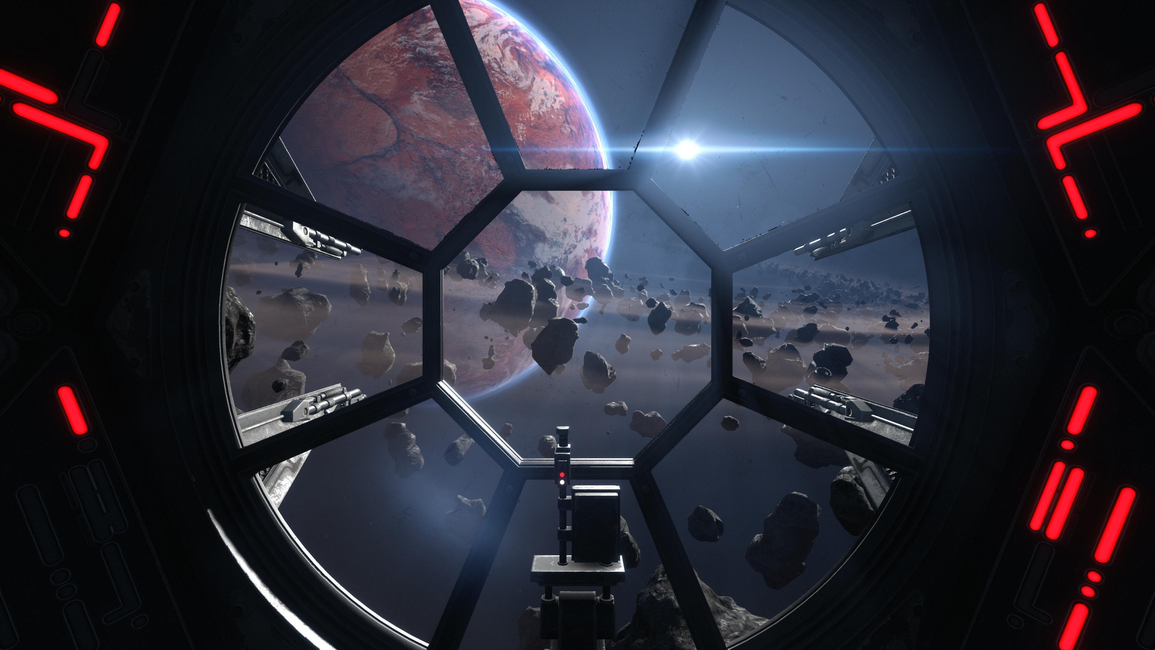 Wallpaper Star Wars Space Vehicle Tie Fighter Tie