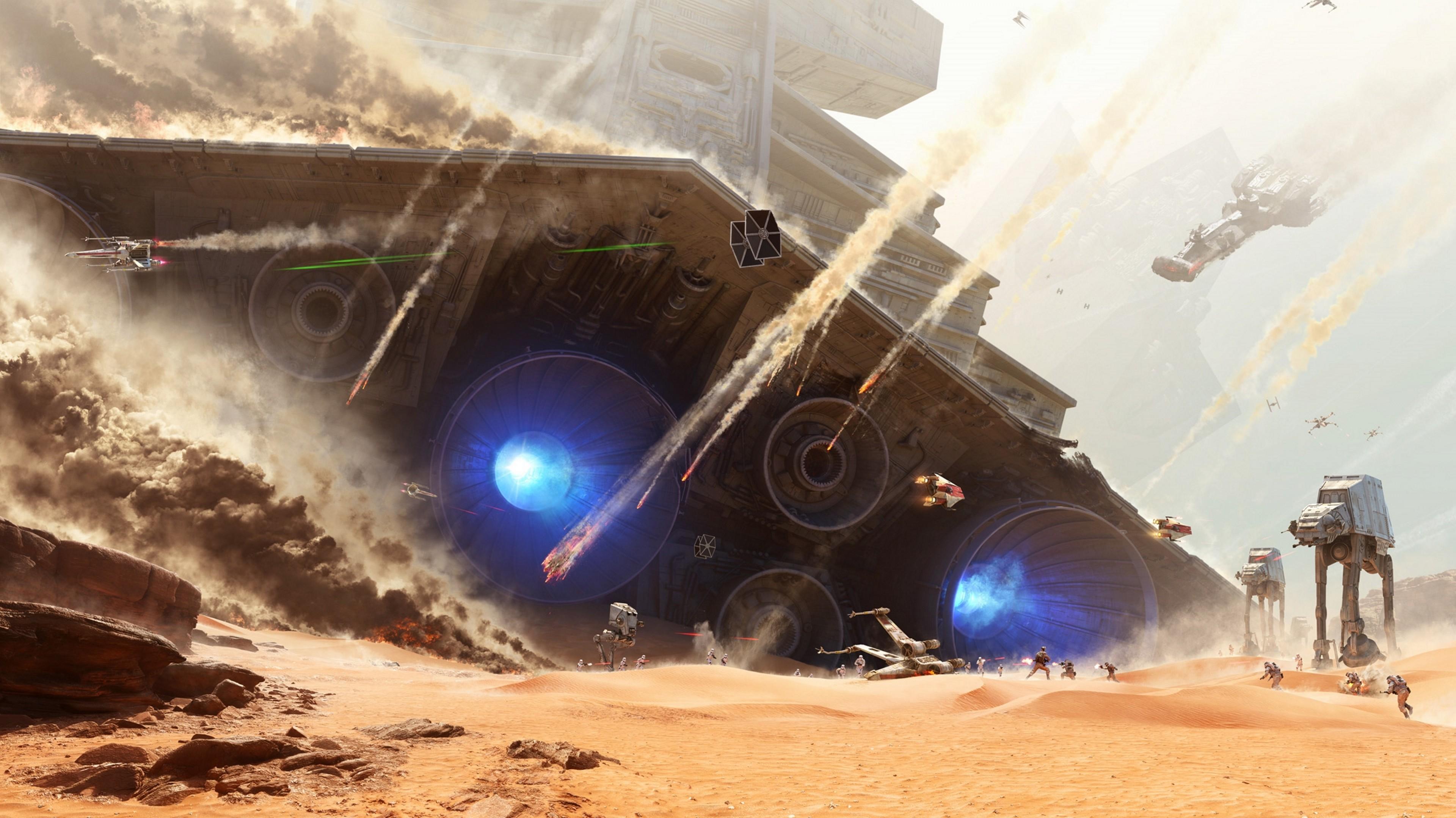 Wallpaper Star Wars Video Games Space Vehicle Battle