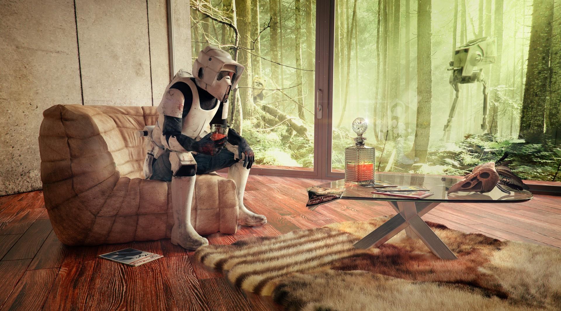 Wallpaper Star Wars Wood Interior Design At St Scout Trooper