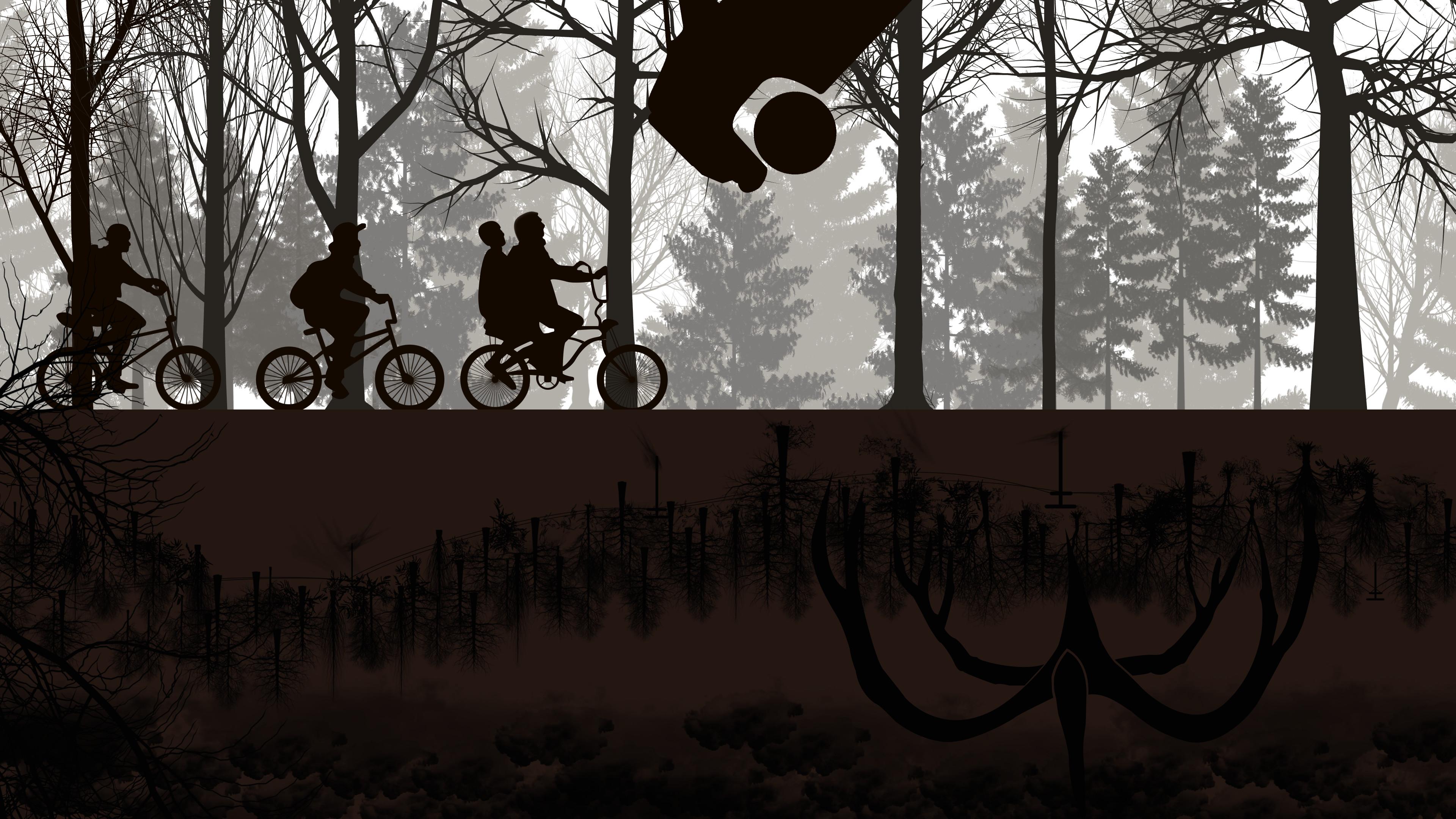 Wallpaper Stranger Things Netflix Tv Bicycle 4k 3840x2160