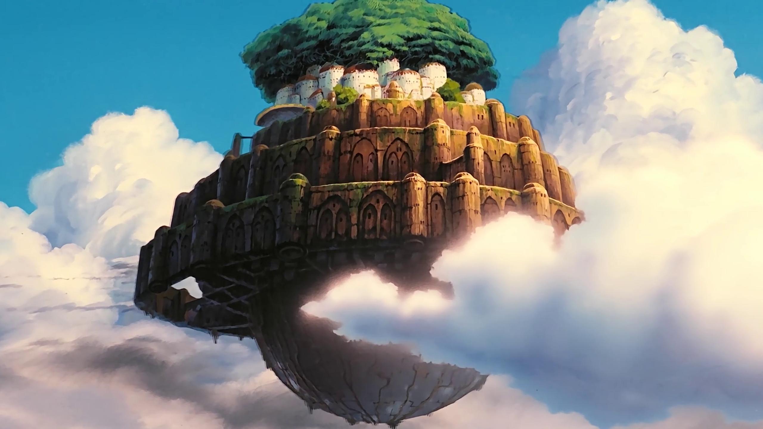 Wallpaper Studio Ghibli Anime Laputa Castle In The Sky