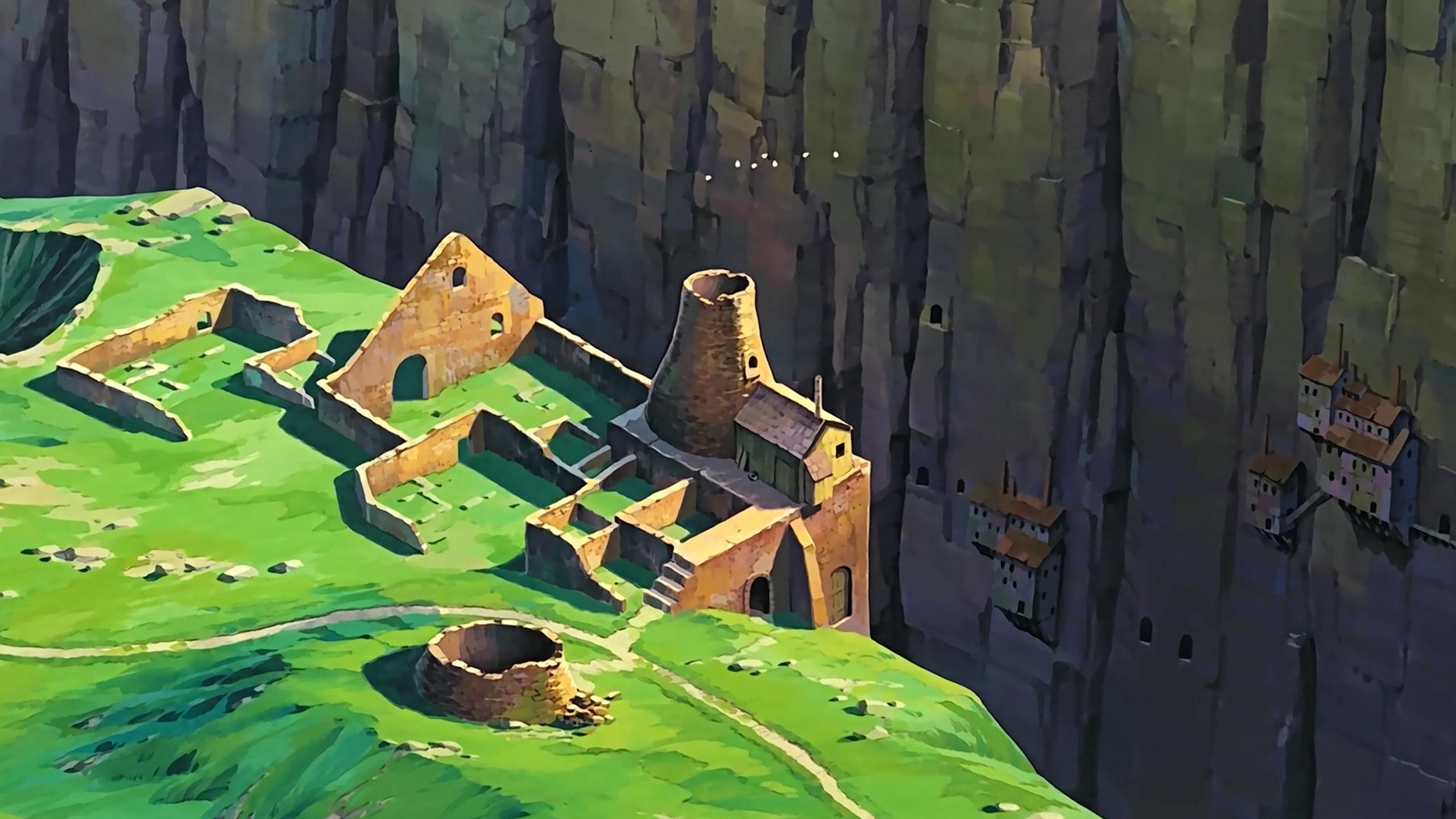 Wallpaper Studio Ghibli Anime Artwork Laputa Castle In The