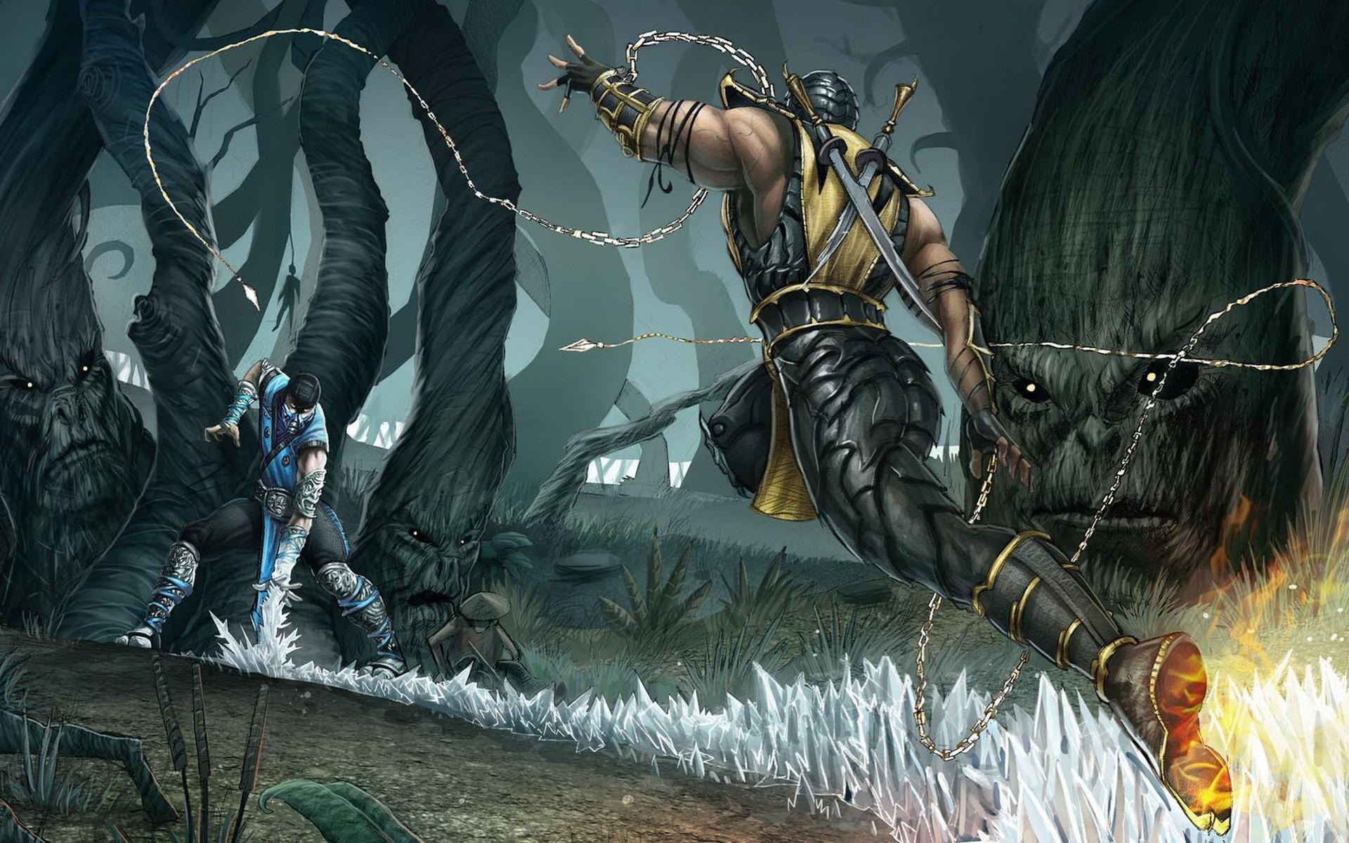 Sub Zero Mortal Kombat Comics Mythology Scorpion Screenshot Computer Wallpaper Pc Game