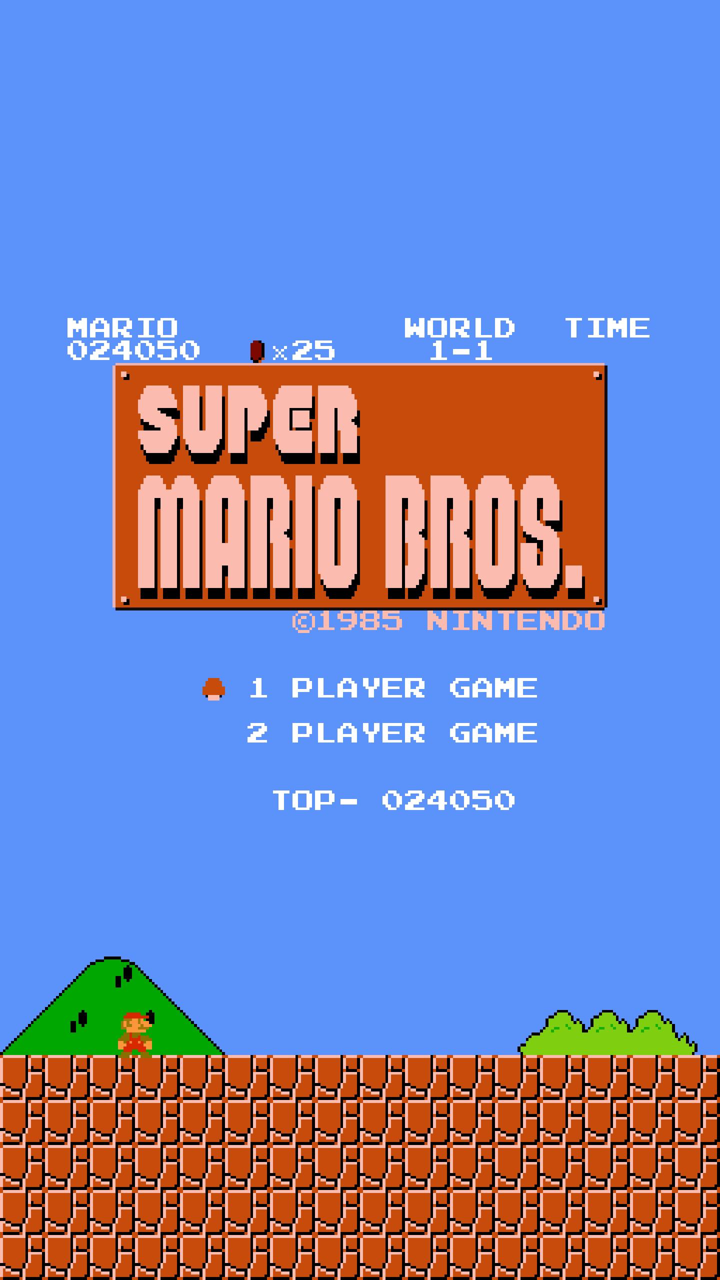 デスクトップ壁紙 スーパーマリオブラザーズ 8ビット レトロゲーム