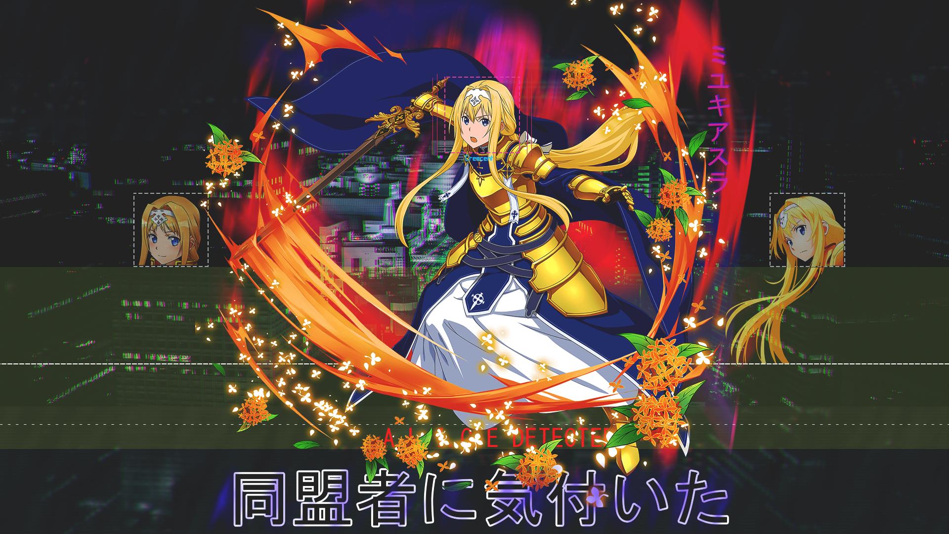 Wallpaper Sword Art Online Alicization Anime Girls 1920x1080