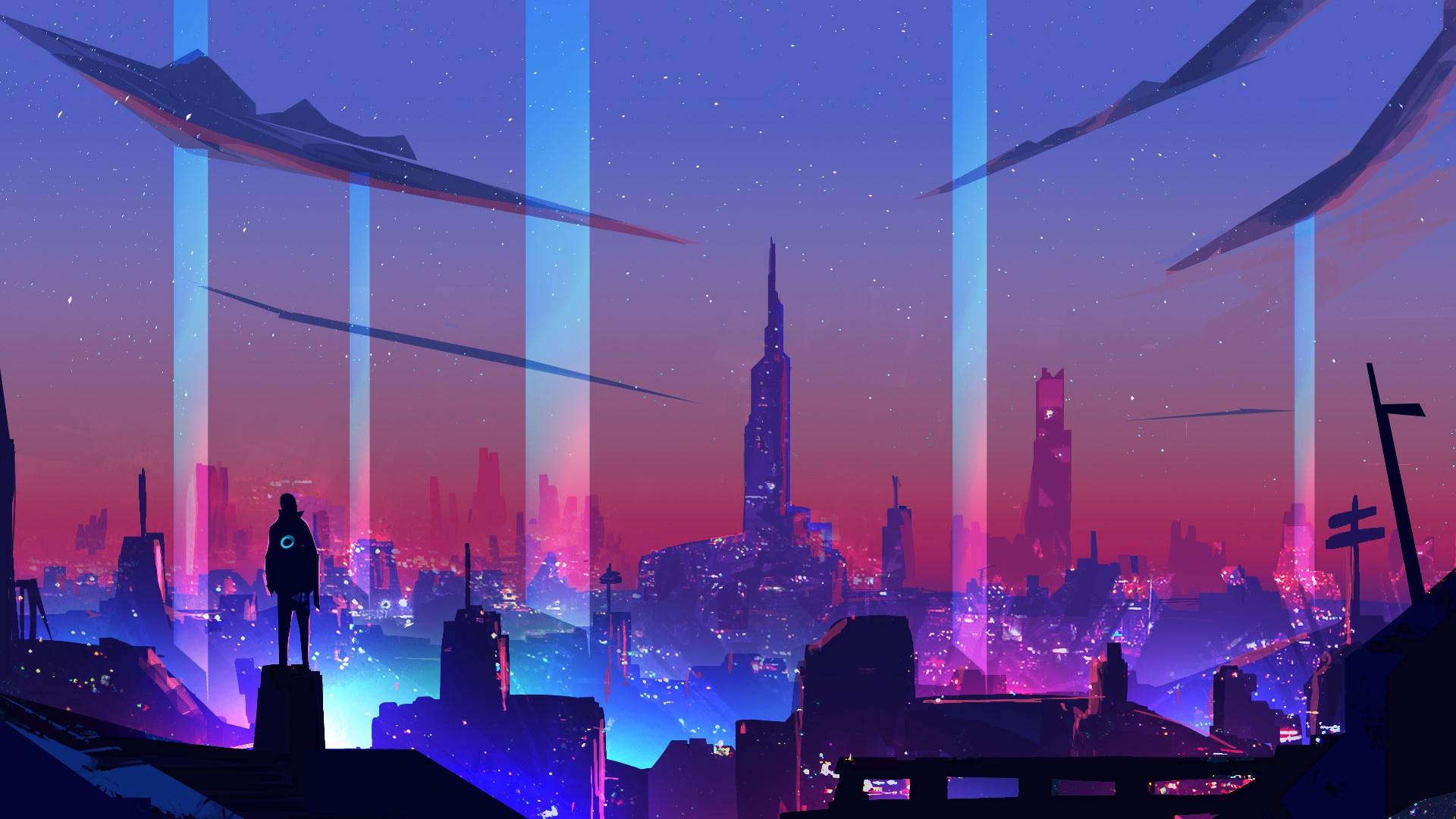 Wallpaper : Synth, Retrowave, neon, cyberpunk, digital art ...