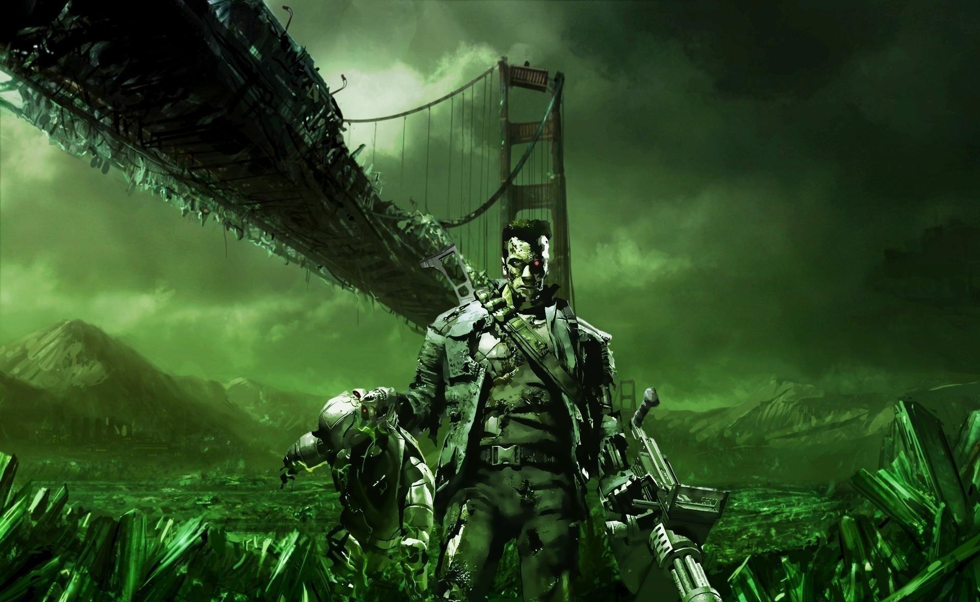 Wallpaper : Terminator, bridge