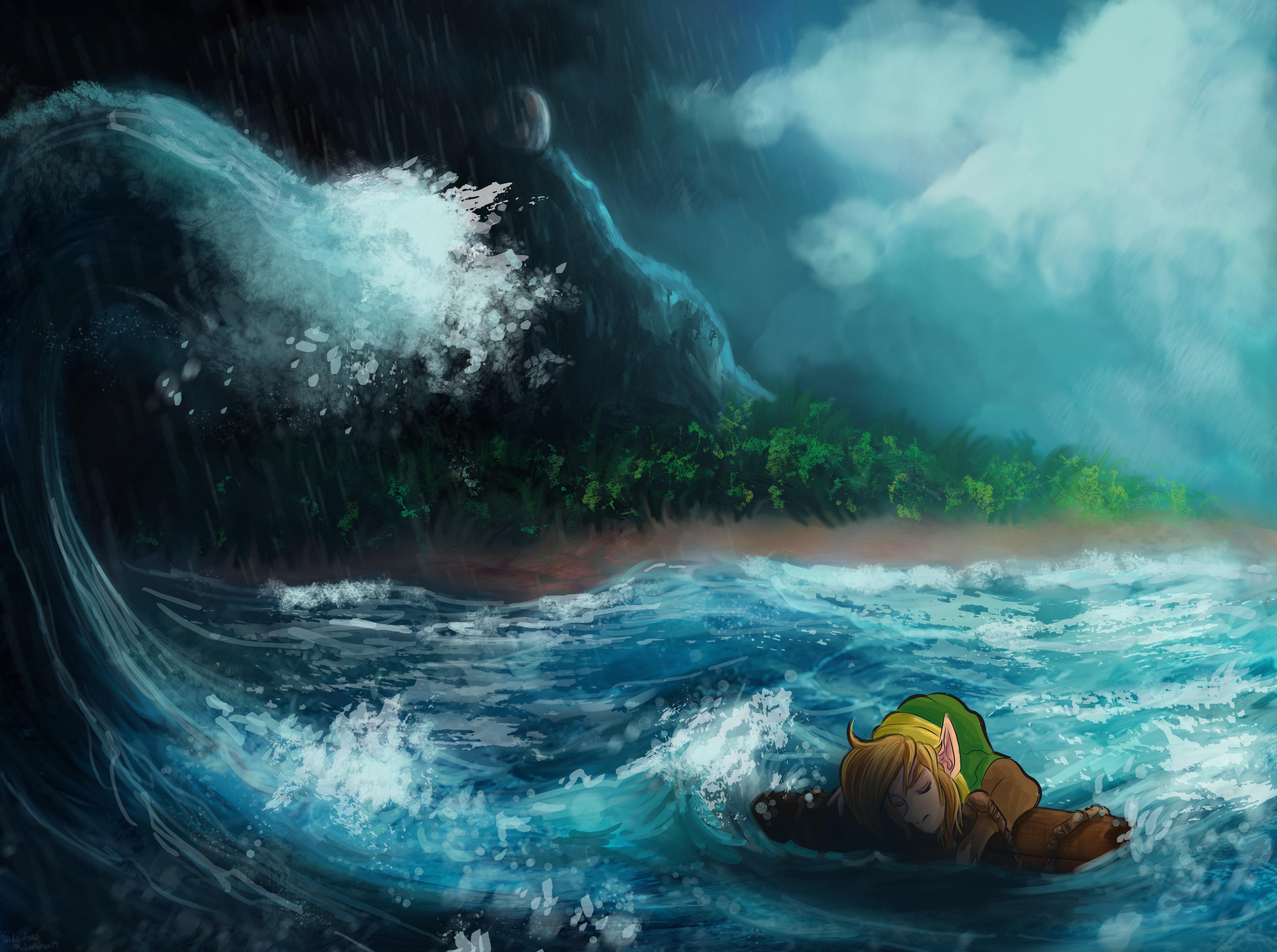 Wallpaper The Legend Of Zelda Link S Awakening The Legend