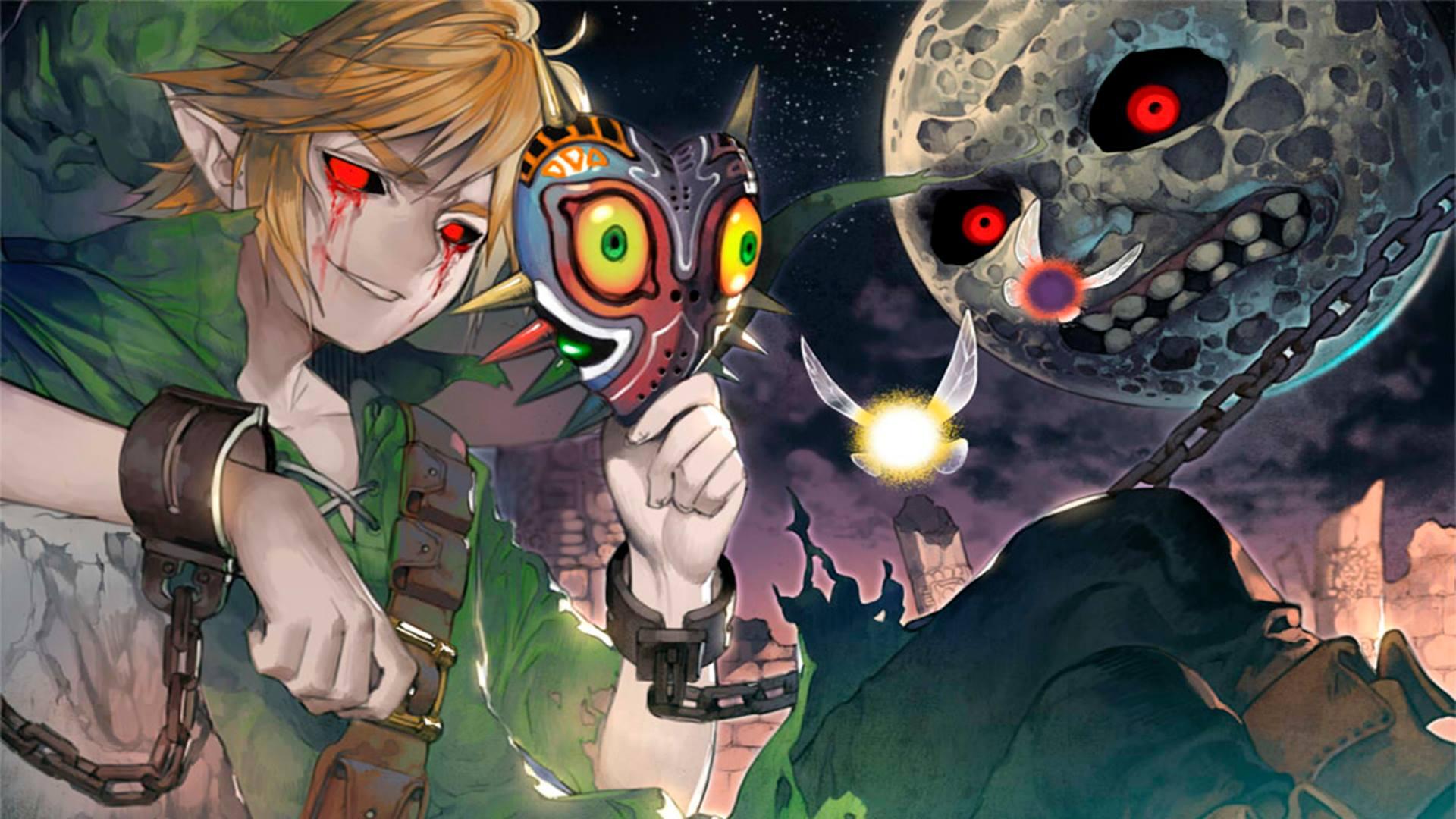Wallpaper The Legend Of Zelda Majora S Mask Link The Legend Of