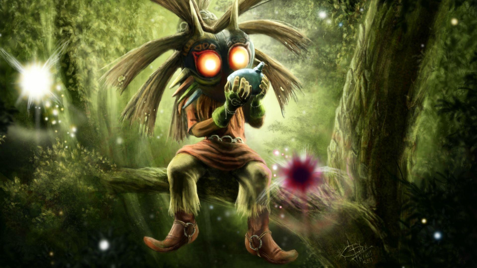 The Legend Of Zelda Majoras Mask Skull Kid Video Games