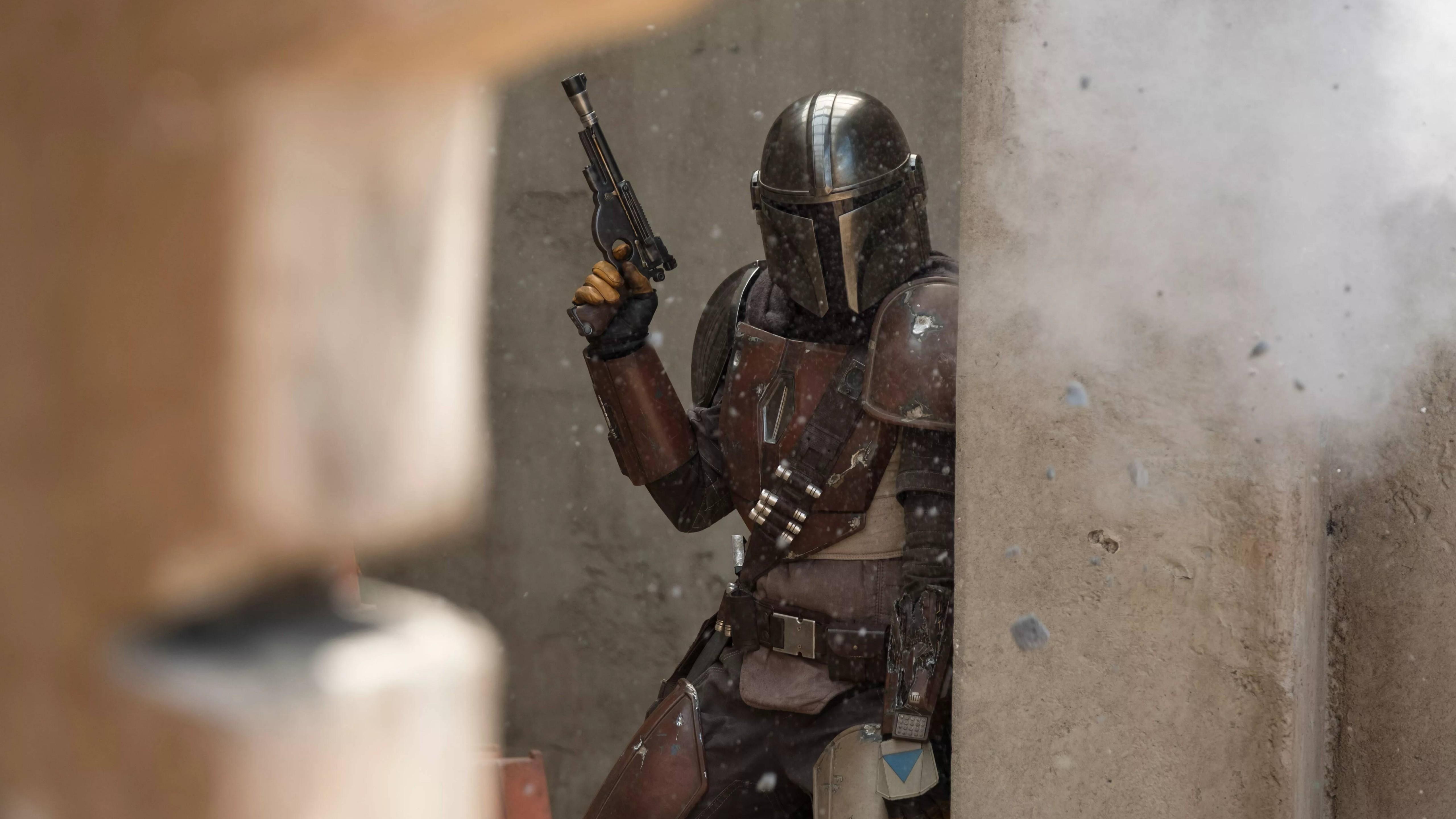 Wallpaper The Mandalorian Star Wars Tv Series Bounty Hunter