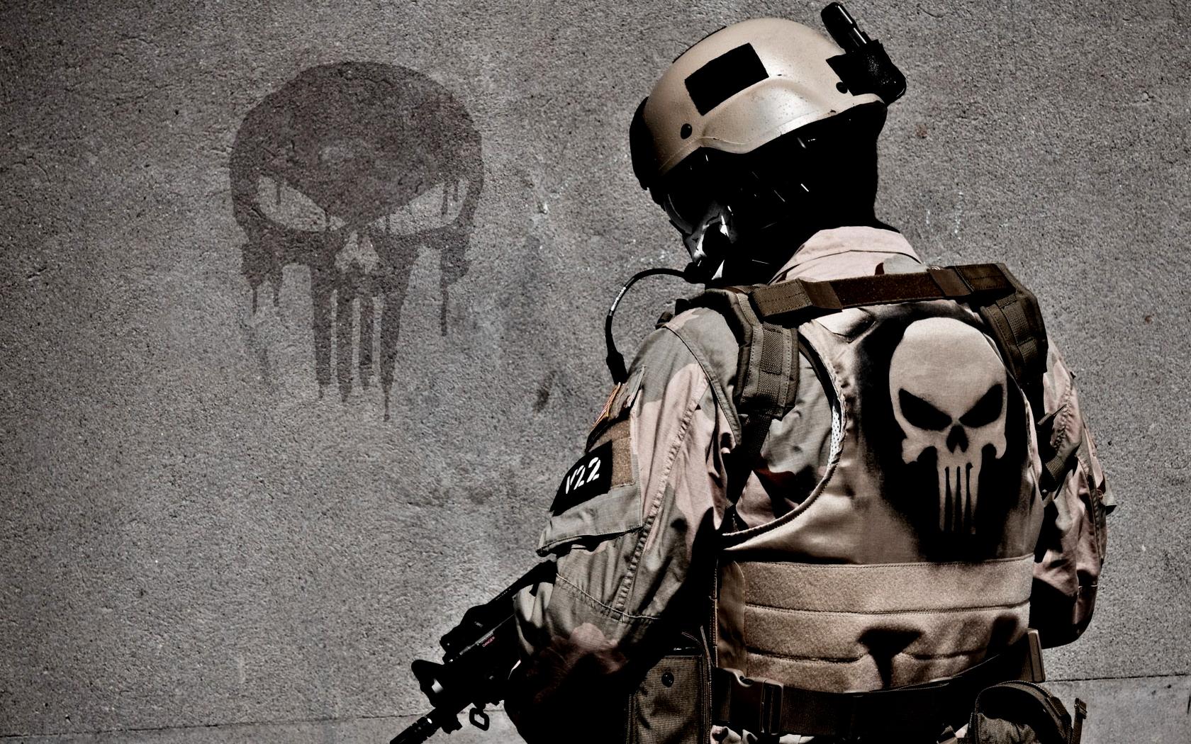 Wallpaper The Punisher Soldier 1680x1050 Macmln