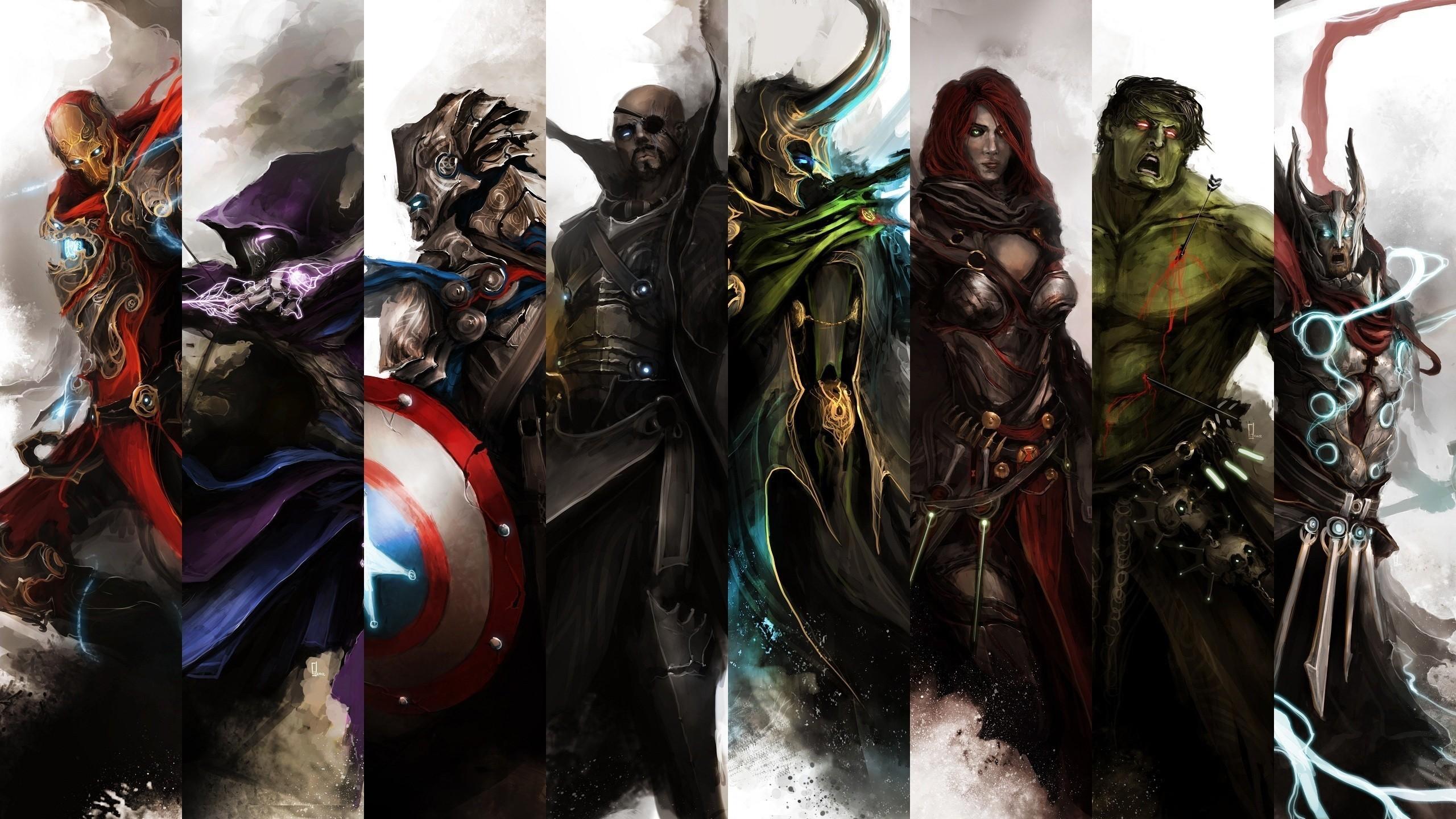 wallpaper : thor, iron man, hulk, captain america, the avengers