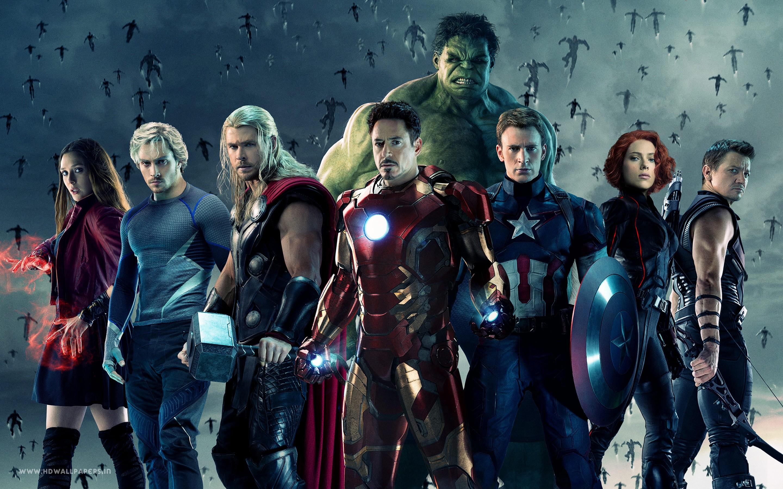 Wallpaper Thor Superhero Iron Man Hulk Scarlet Witch