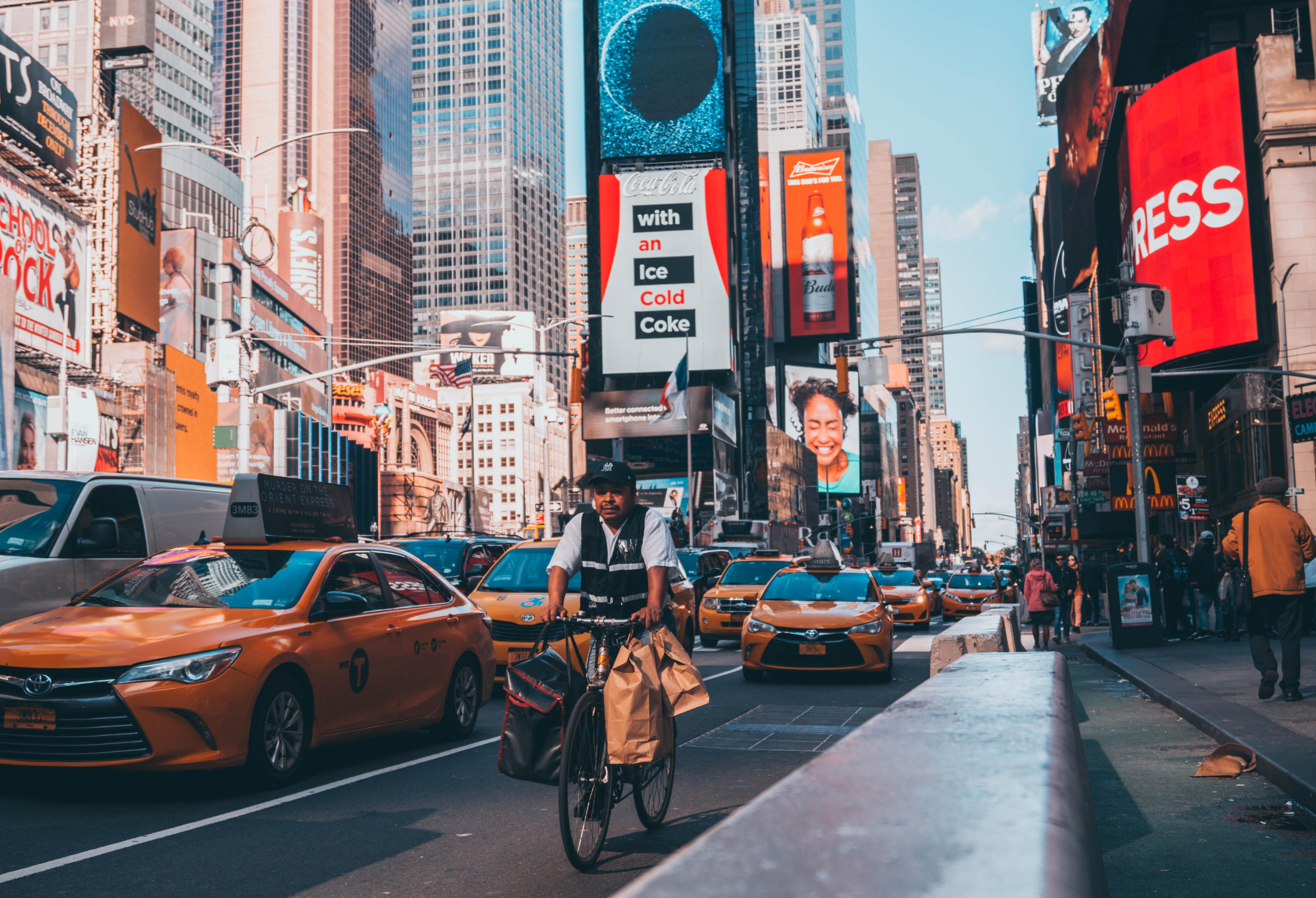 Fondos De Pantalla Times Square Taxi Nueva York